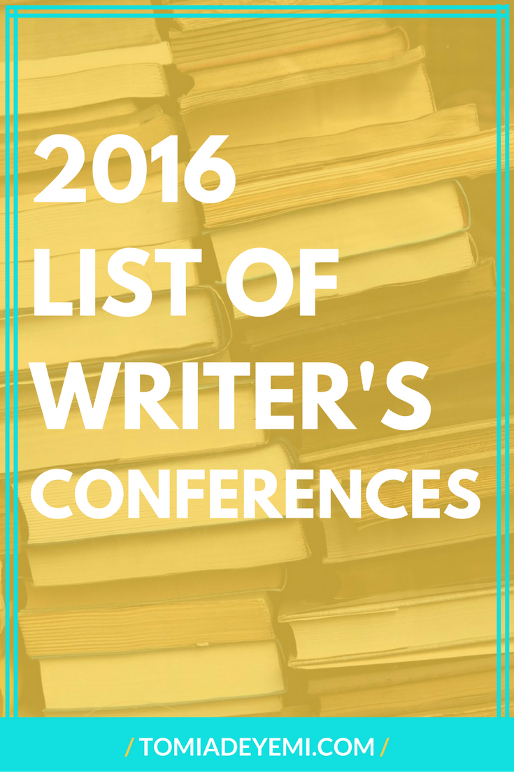 2016 List Of Writer's Conference