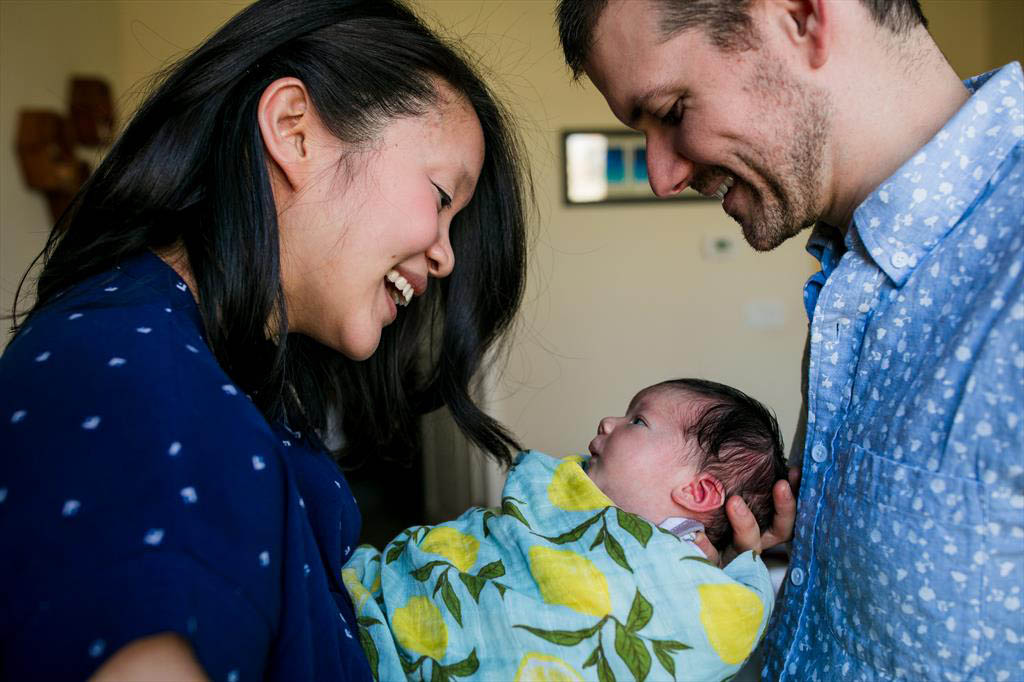 Ben McCann (CS 2006, MBA 2006)  and Stephanie Lin with their new daughter Alexis.