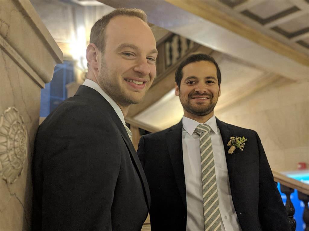 Michael Bernardi (MBA 2018)  married  Eduardo Guardia (MBA 2017)  in November.