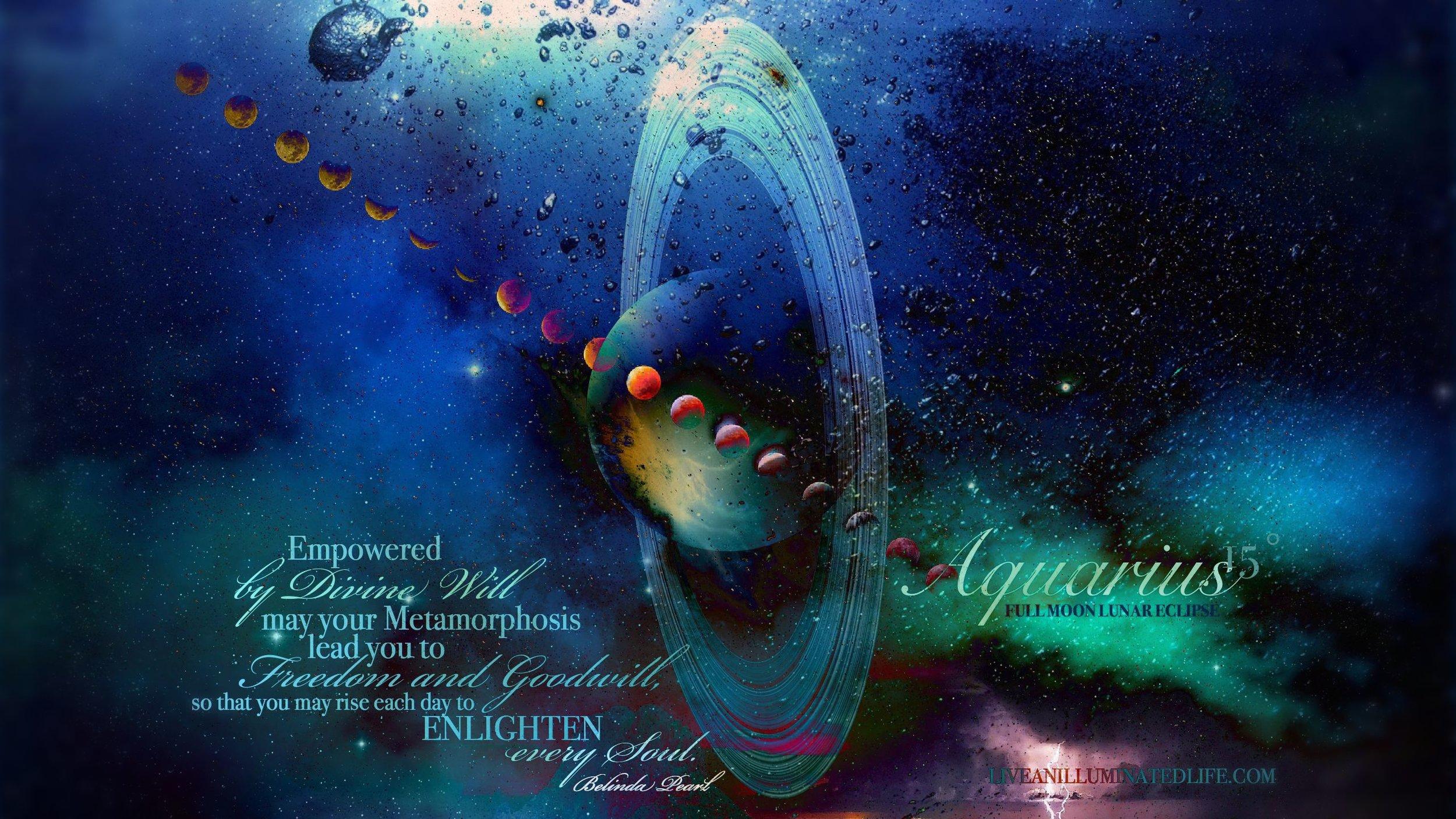 Aquarius Full Moon Lunar Eclipse