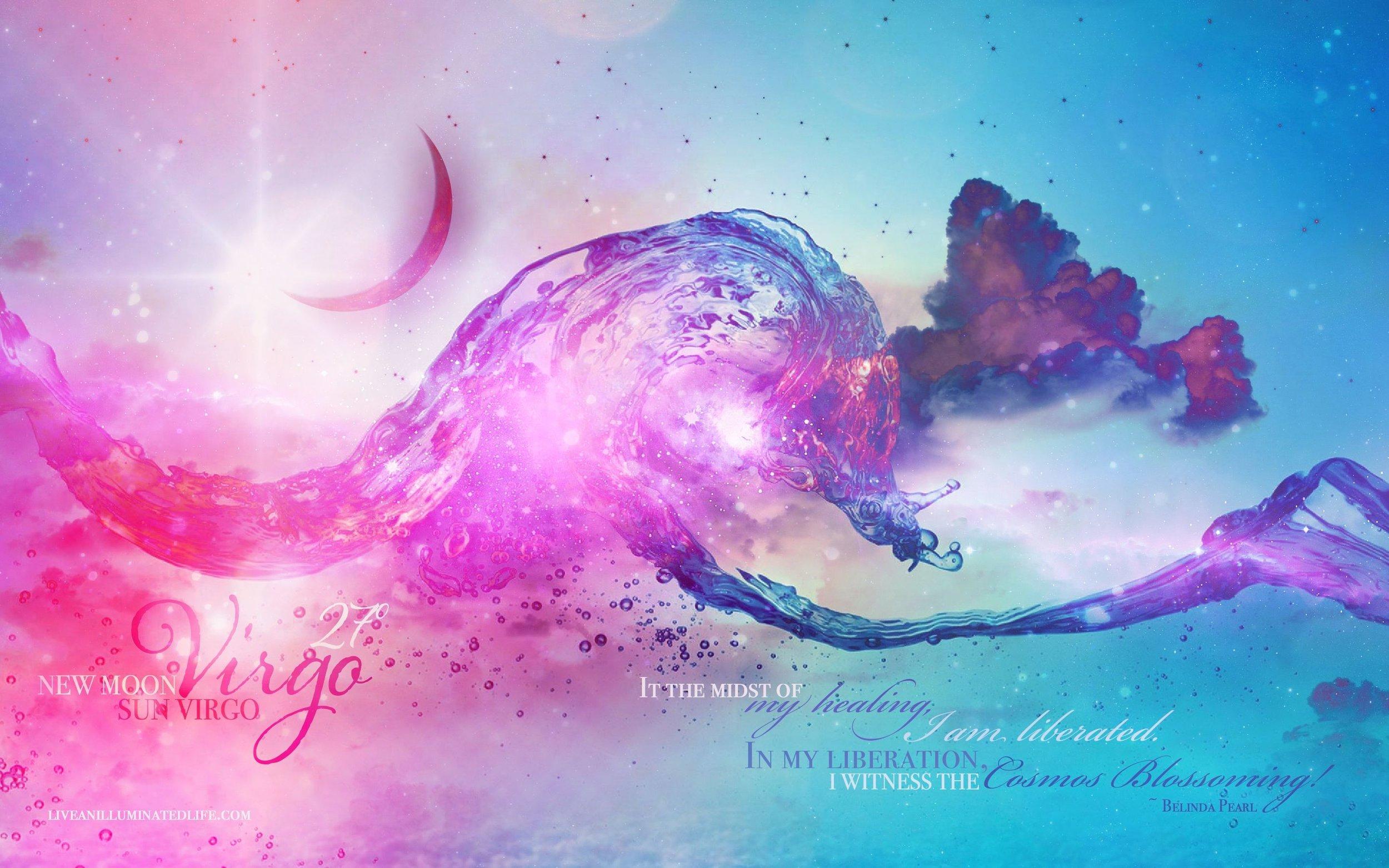 New Moon Virgo by Belinda Pearl