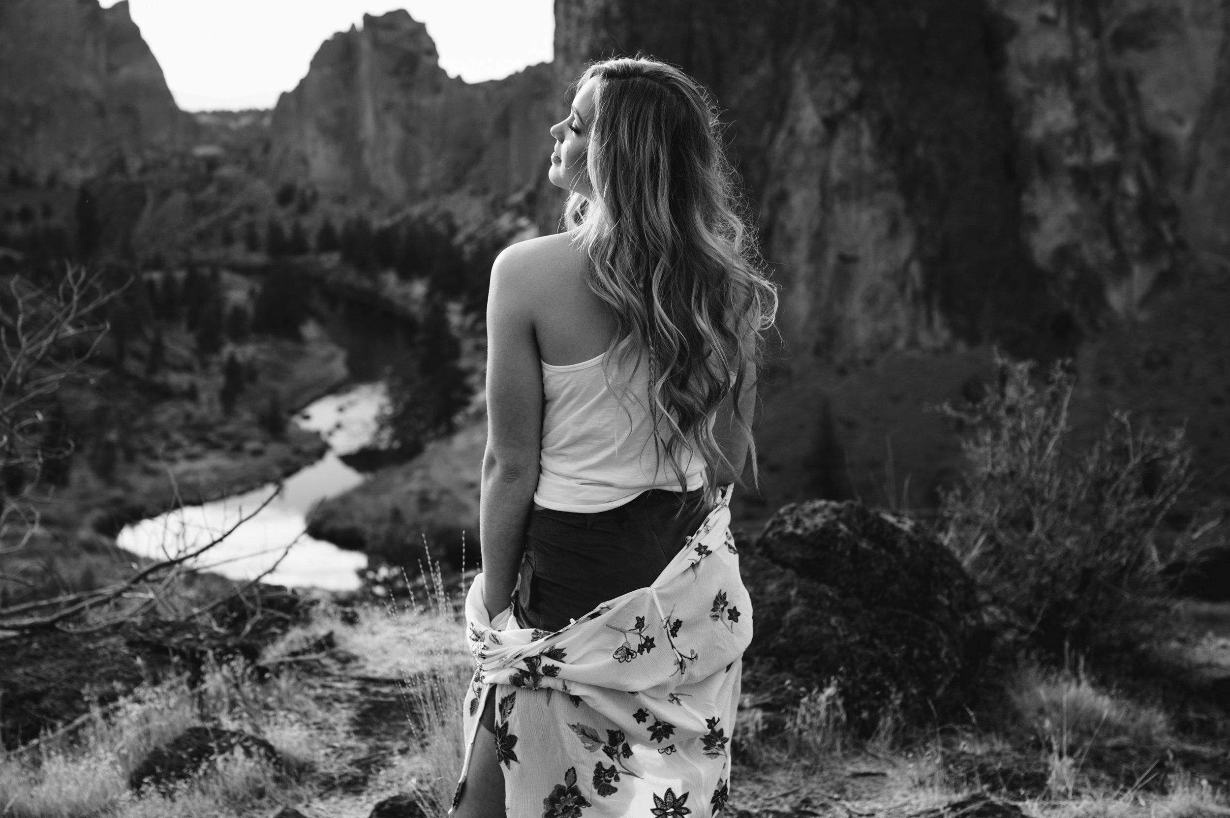 Smith Rock in Central Oregon senior picture.