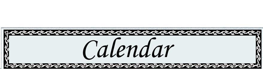 Click for the Ten O'Clock Church Calendar