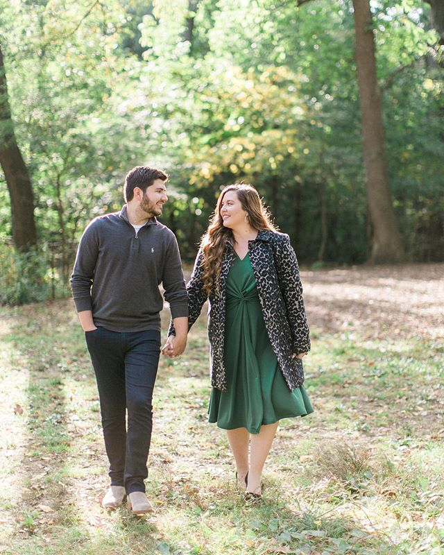 Who wouldn't want their engagement pictures taken in Central Park in October?! 🍁🍃