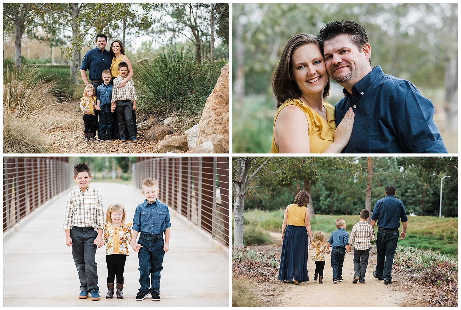Kari Webb Photography | Orange County Family Photographer | family of 5 in a park