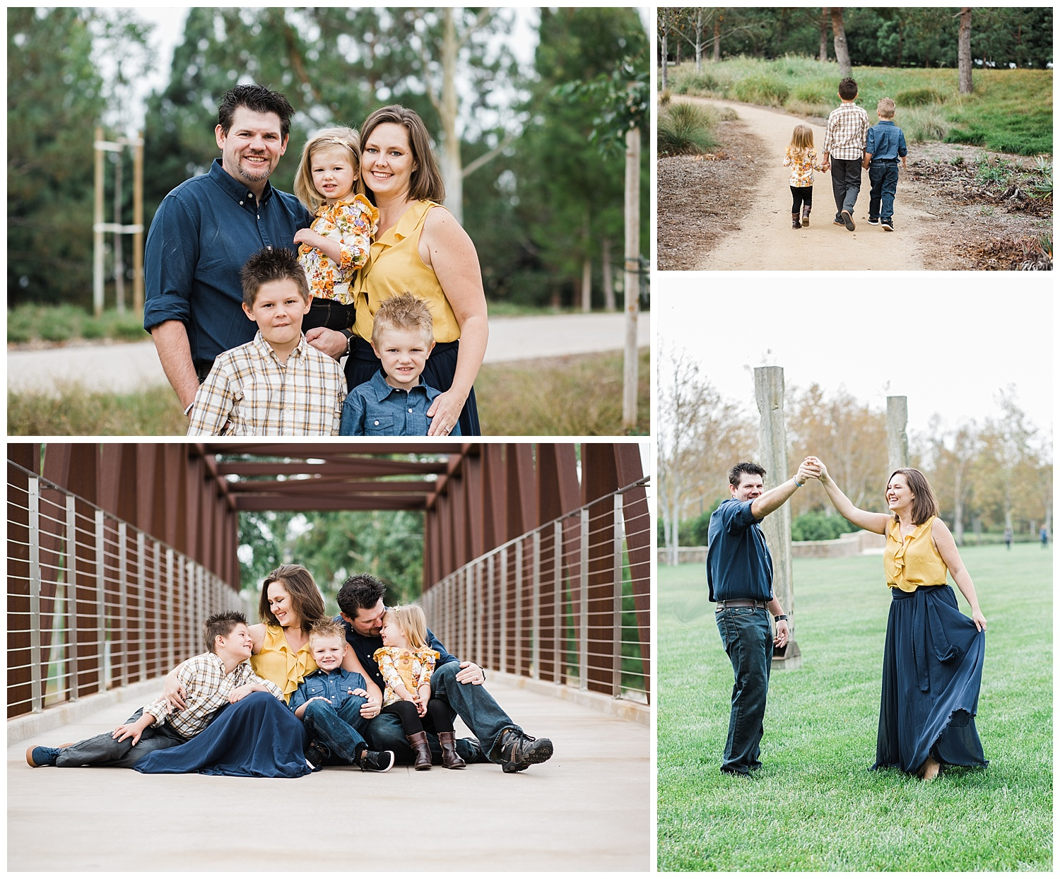 Kari Webb Photography | Orange County Family Photographer | kids walking parents dancing family looking at each other