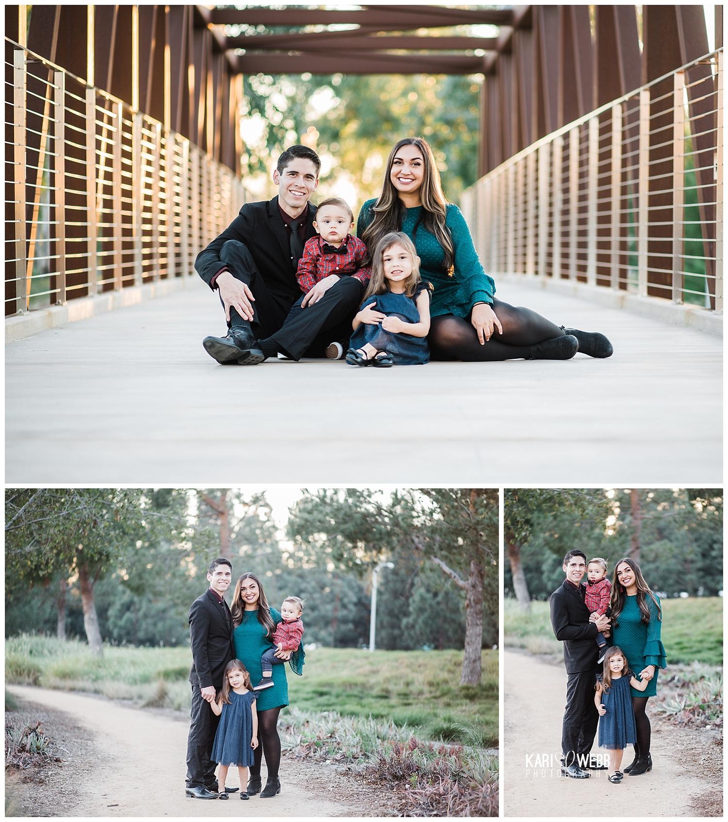 Orange County Family Photographer _ Kari Webb Photography _ Family photo collage family of four holiday photos