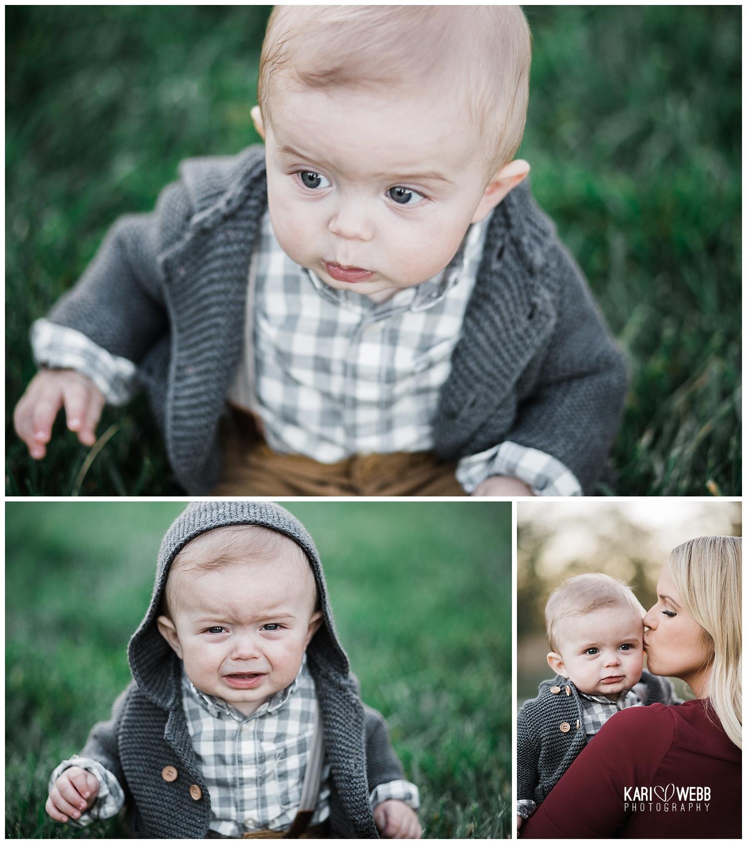 Kari Webb Photography_Irvine Family Photographer_ baby in a hood crying looking cute.jpg