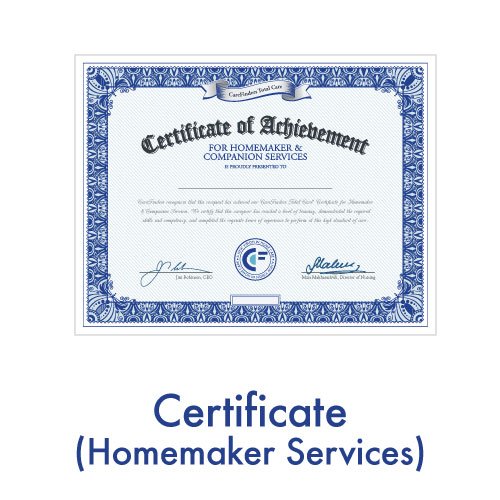 Certificate (Homemaker Services)