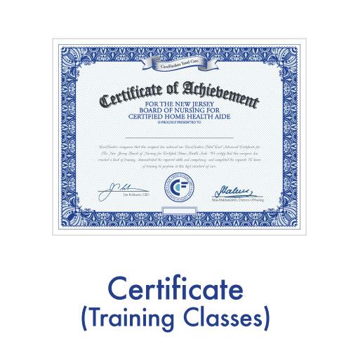 Certificate (Training Classes)