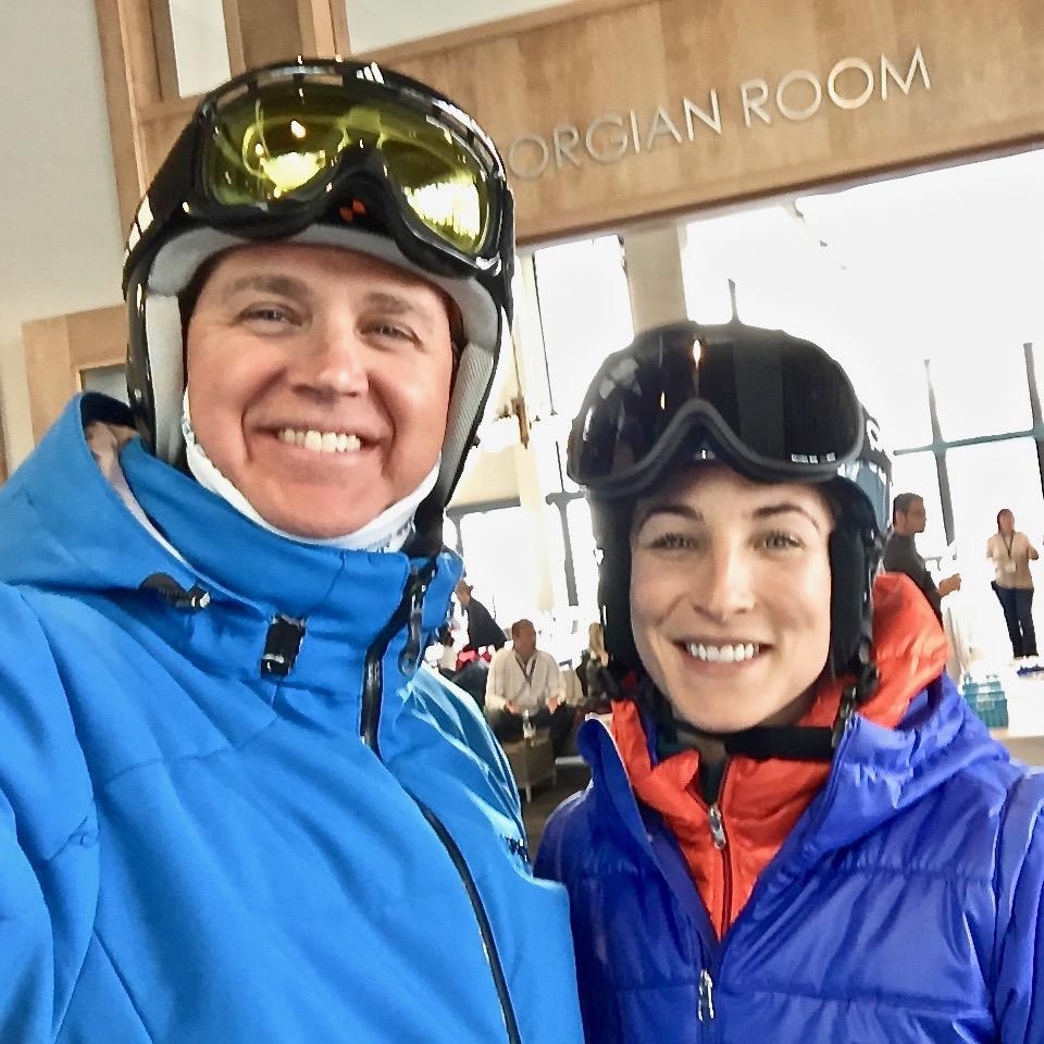 Neil and larisa at alpine ski club, ontario