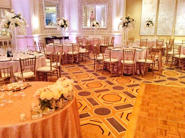 Four Seasons Boston Wedding - Rose Pink Uplighting