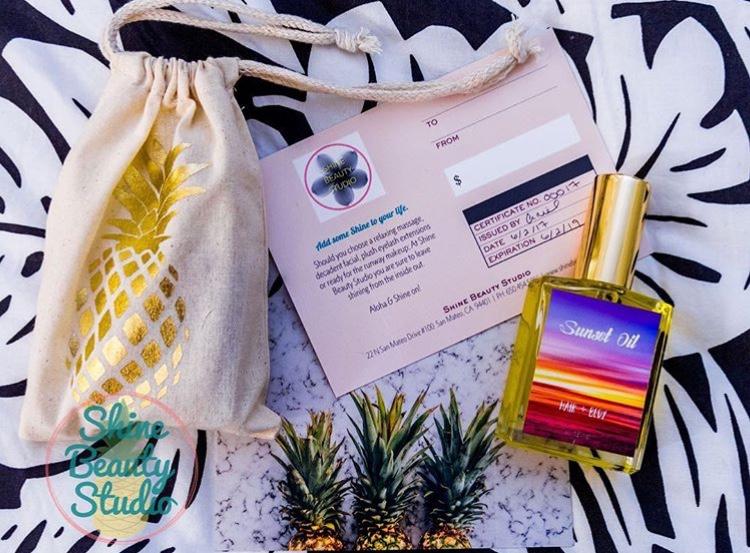 Shine Beauty Studio Sunset Oil Label