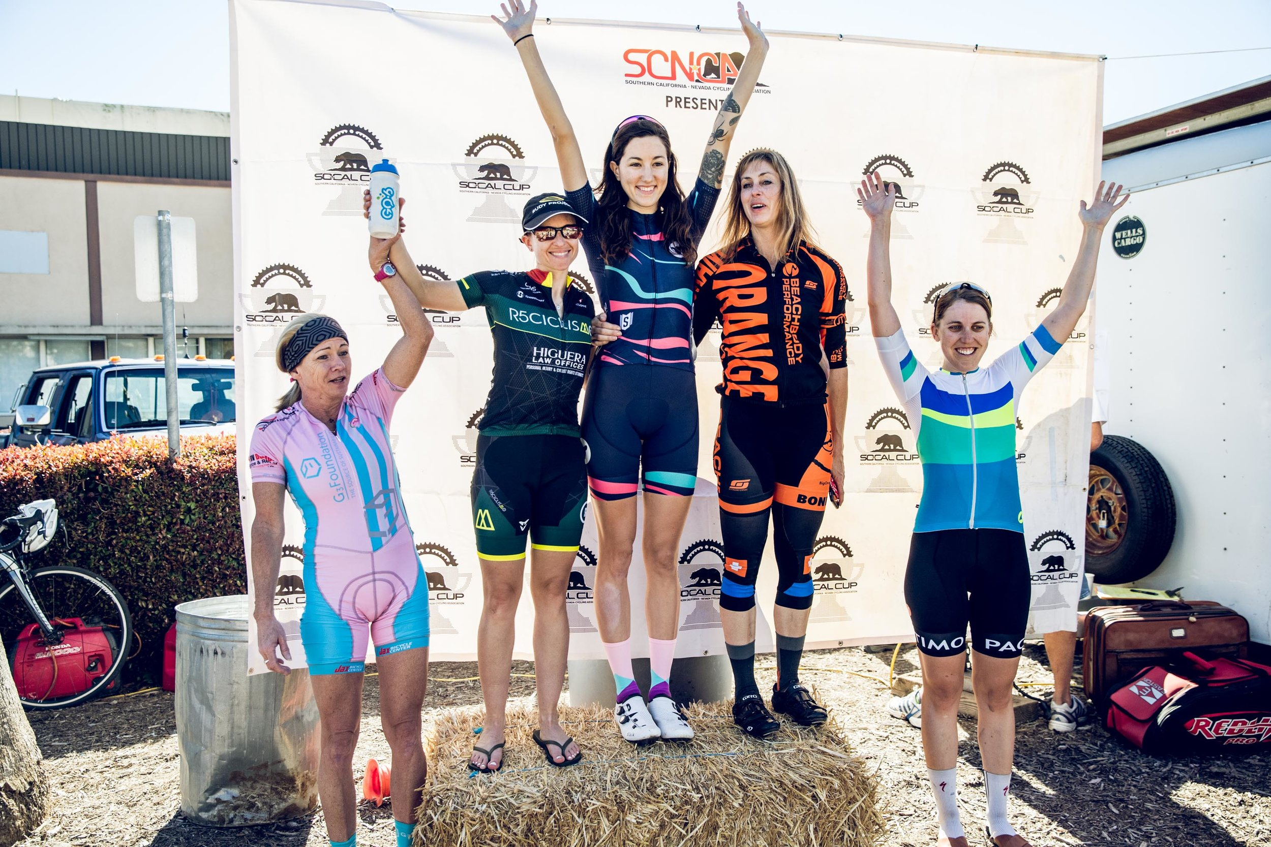 Ginger Boyd had a successful weekend, taking 4th place in Women's 4's at Santa Barbara County Road Race and a win for Women's 4's at Carlos Soto Memorial Criterium.   Photo: MCM