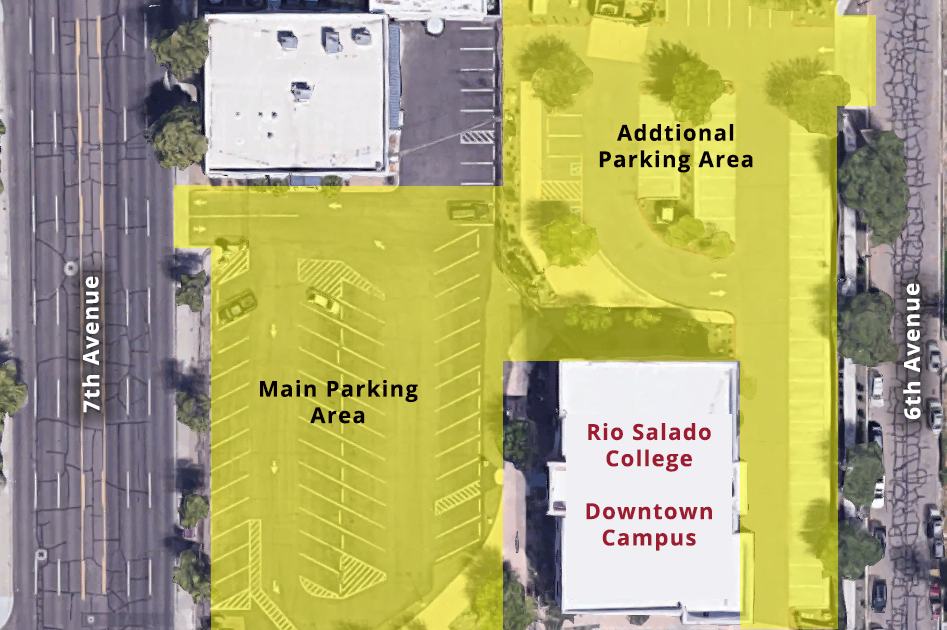 *Free Parking is available in front with additional parking in the rear of the campus off of 6th Ave.