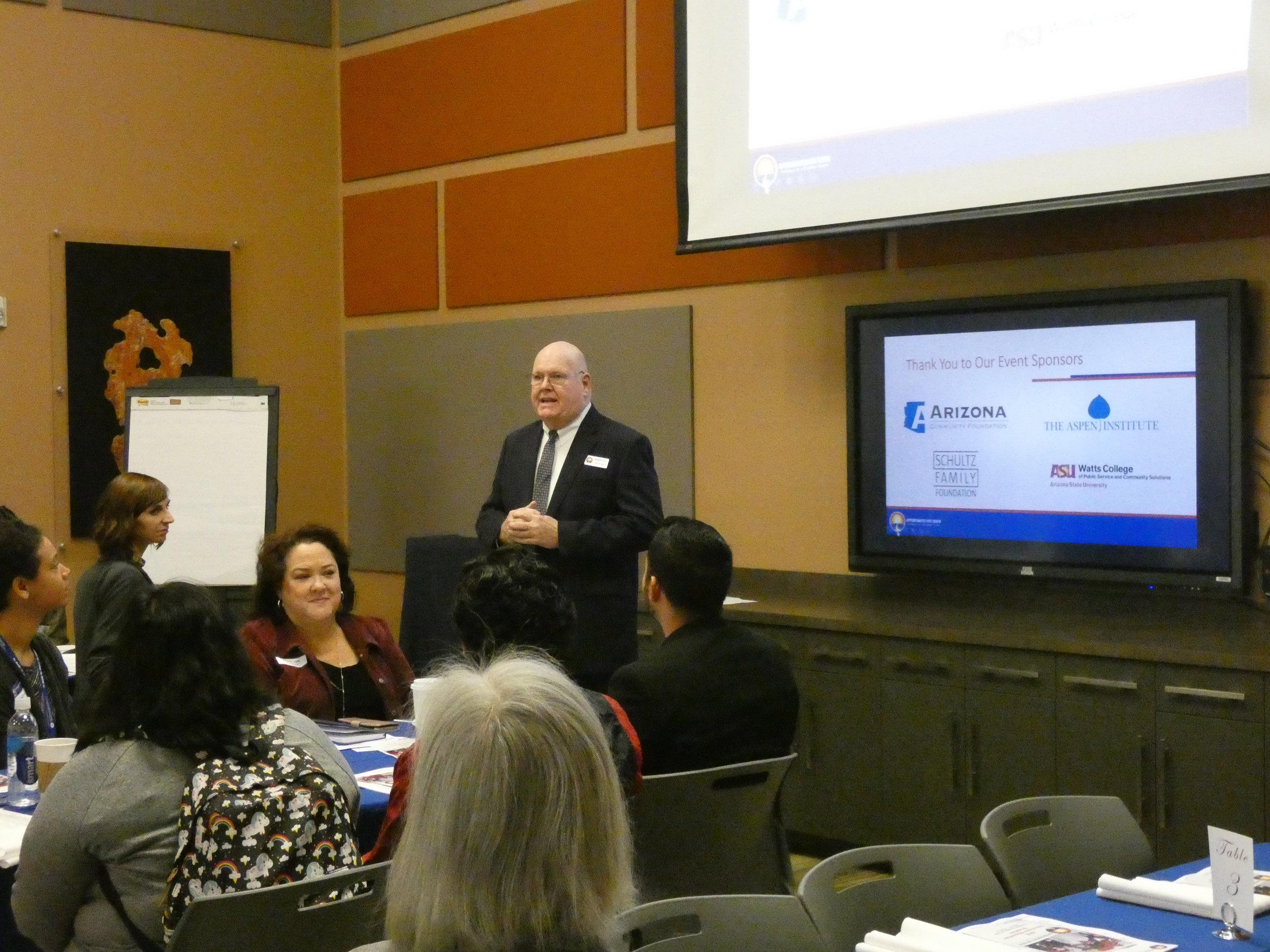 Executive director James Hoyt at Educational Momentum Breakfact