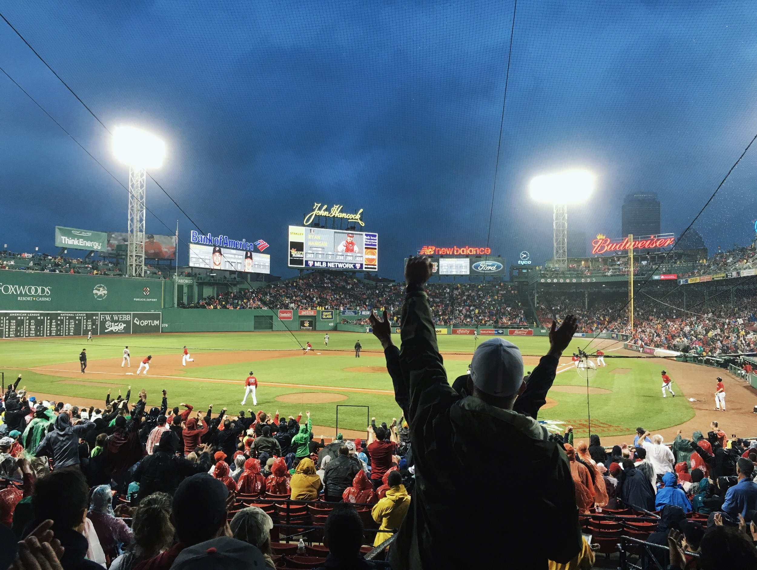The game started promisingly, with the Sox scoring five runs in the second inning.