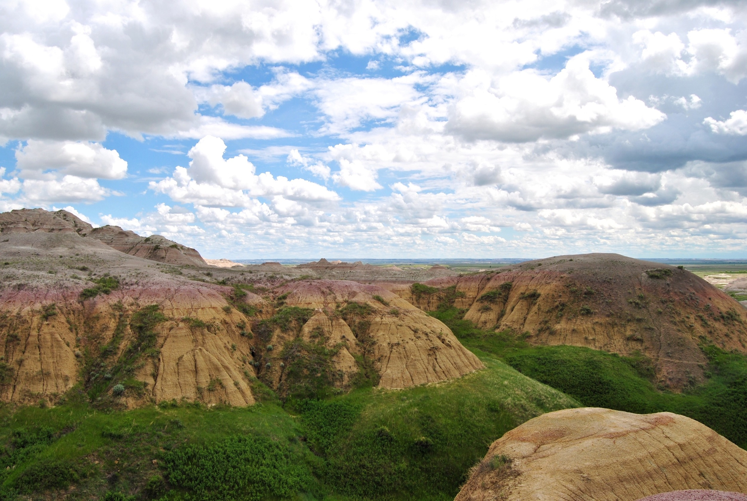 The Yellow Mounds were formed from being an ancient tropical rainforest a few years ago. They were named because they were yellow.