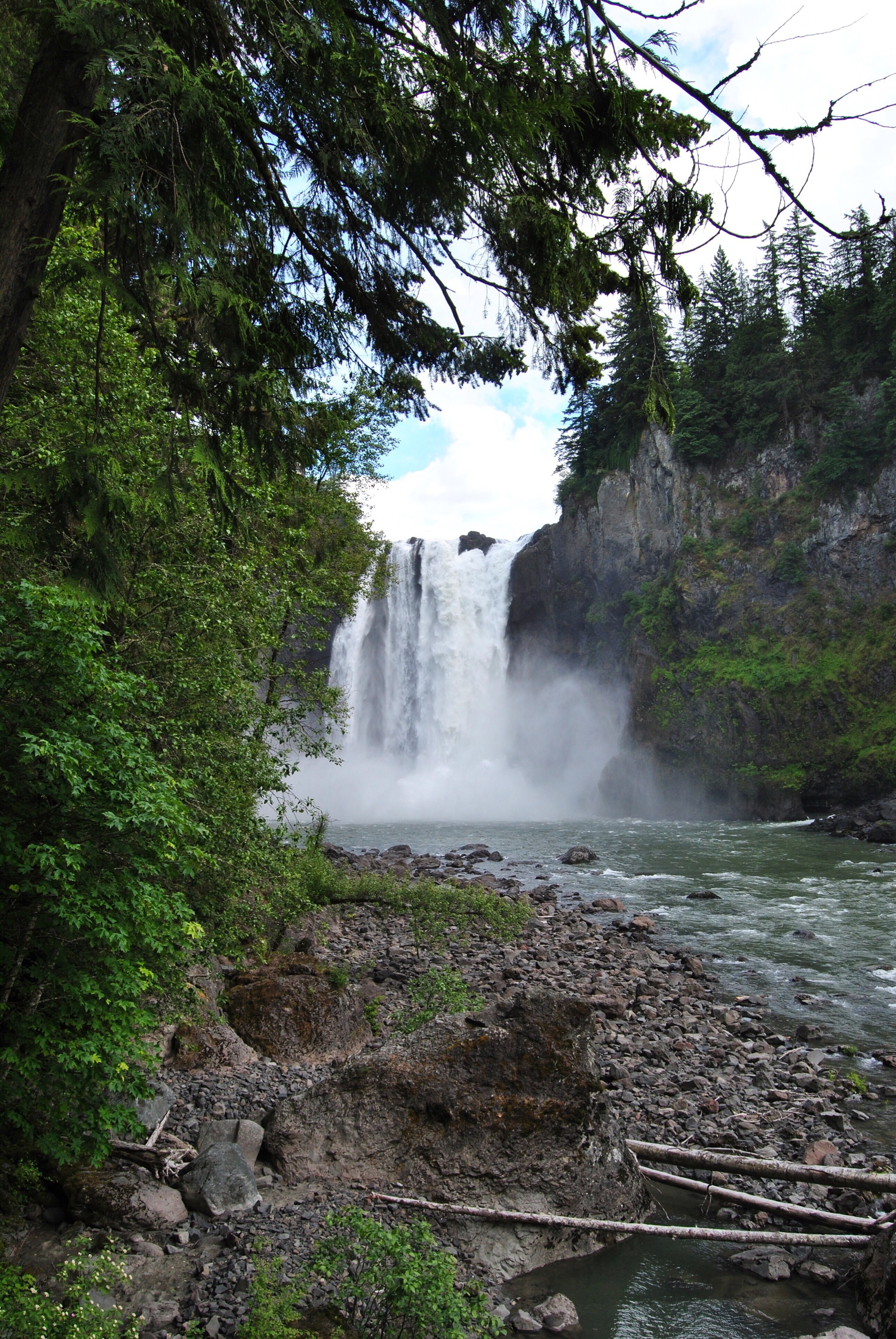 And the view from the bottom of the waterfall. I took this, dreading the walk back up.