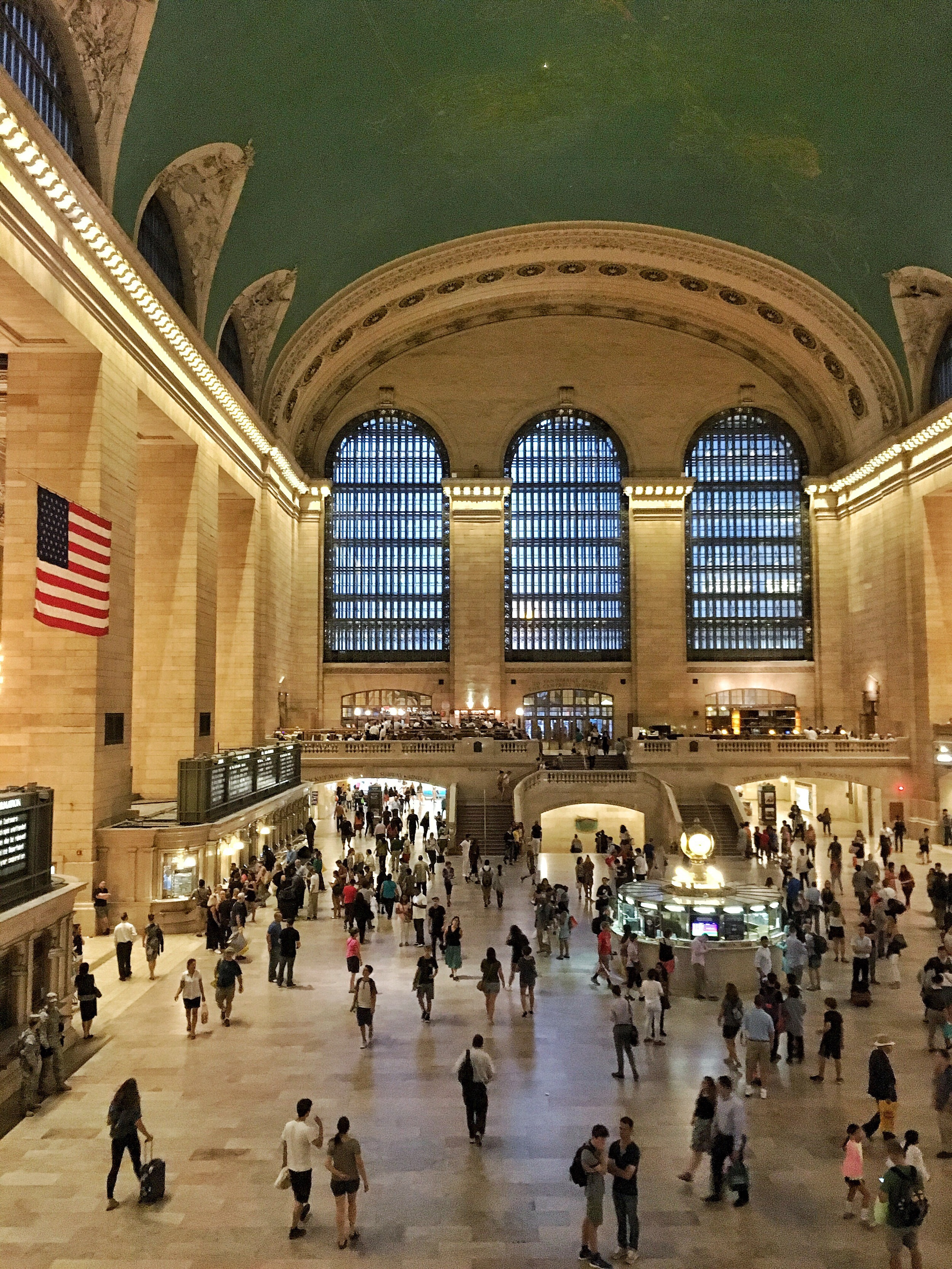 Harris had never seen Grand Central Station, so later that day we went.We figured it was something our hungover bodies could handle.