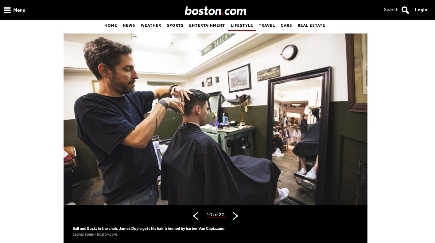 Funnily enough, Van was cutting hair the day a photographer and I showed up from Boston.com to take photos for a piece I was writing and producing on  Boston's Best Barbershops.