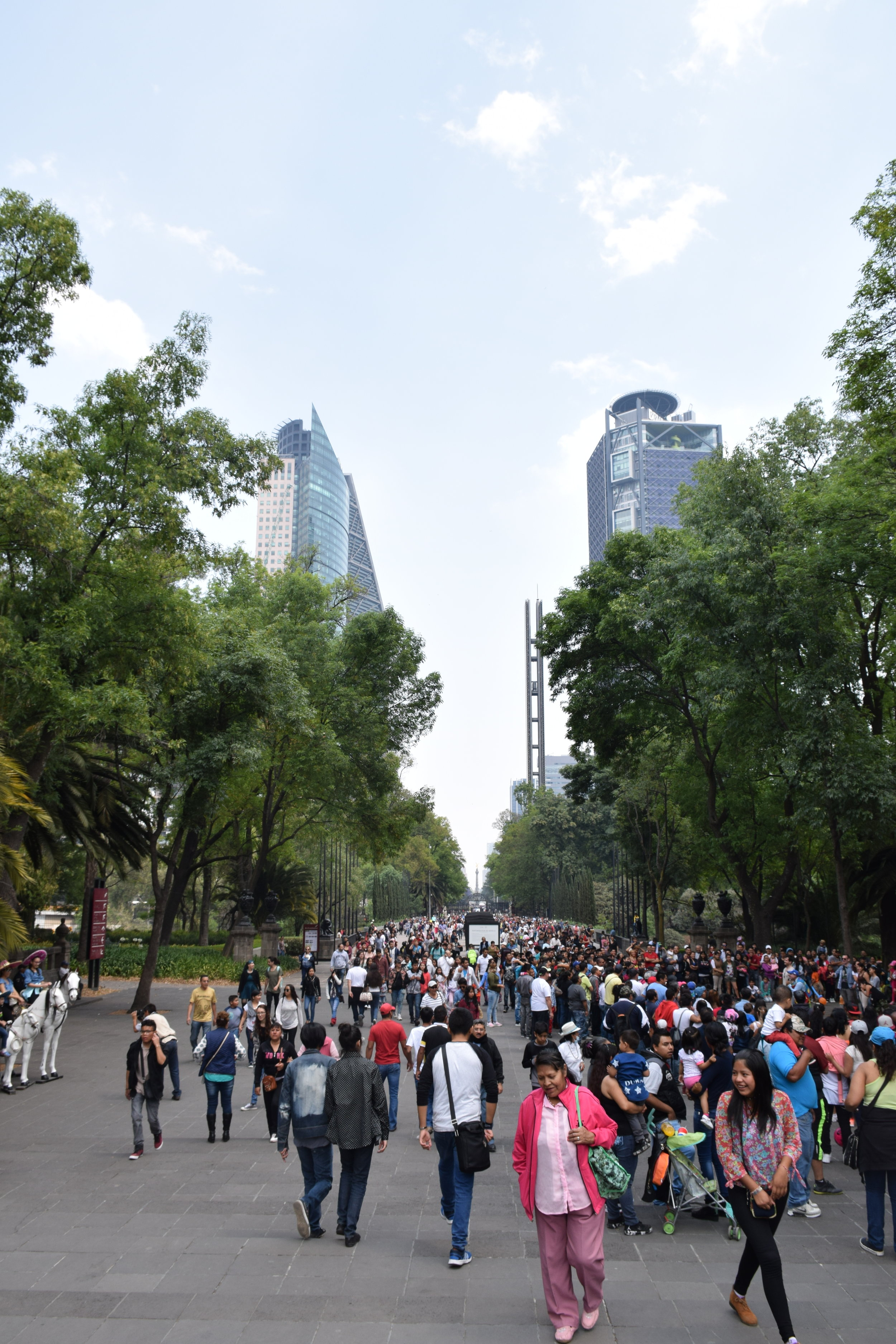 The museum was in the massive park in the city, El Bosque de Chapultepec. On Sundays, it's clearly the place to be.