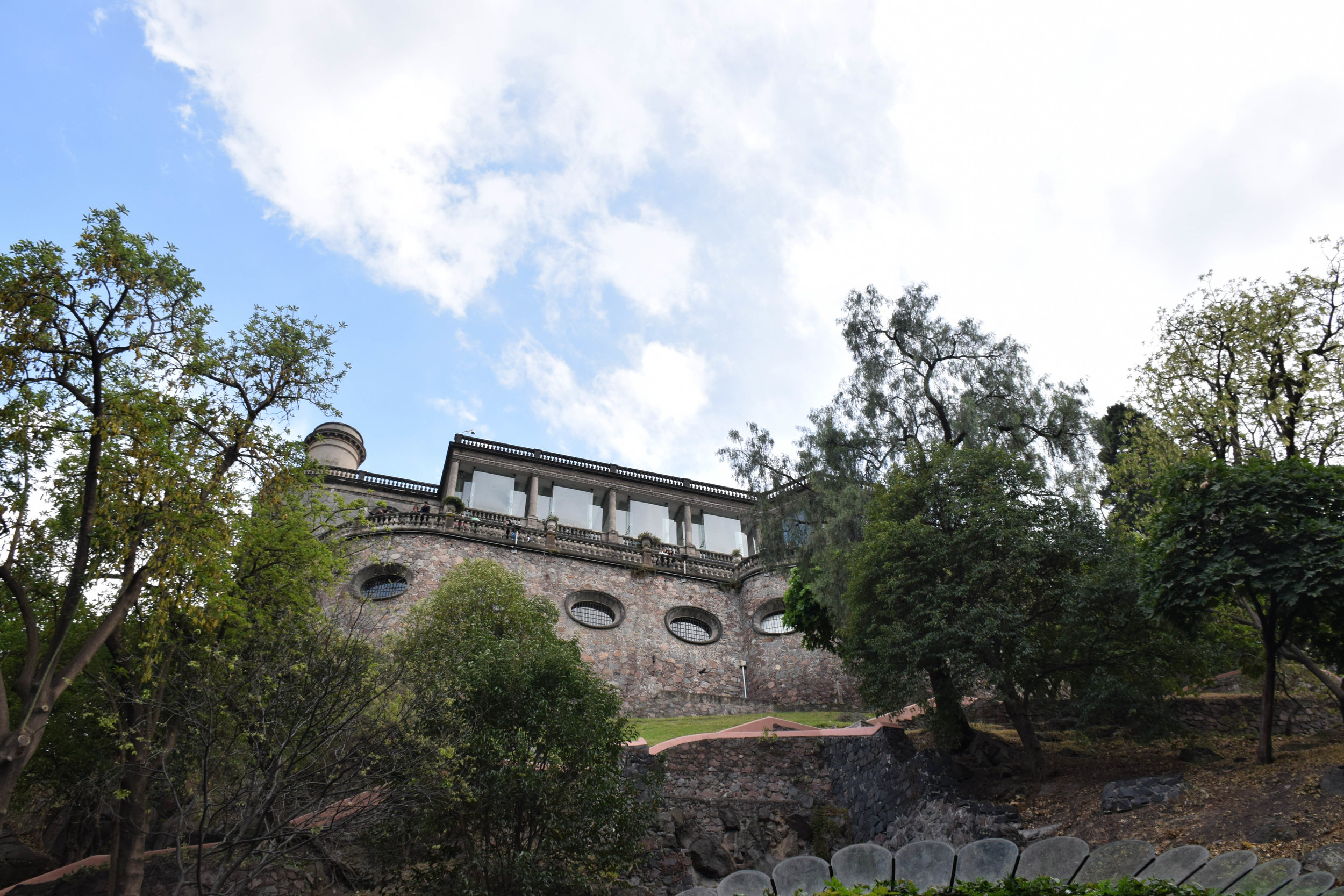 The other jewel of the park is the Castle, El Castillo de Chapultepec. We tried to go here after the museum, but it closed at five. No matter, we went later. More to come on this.