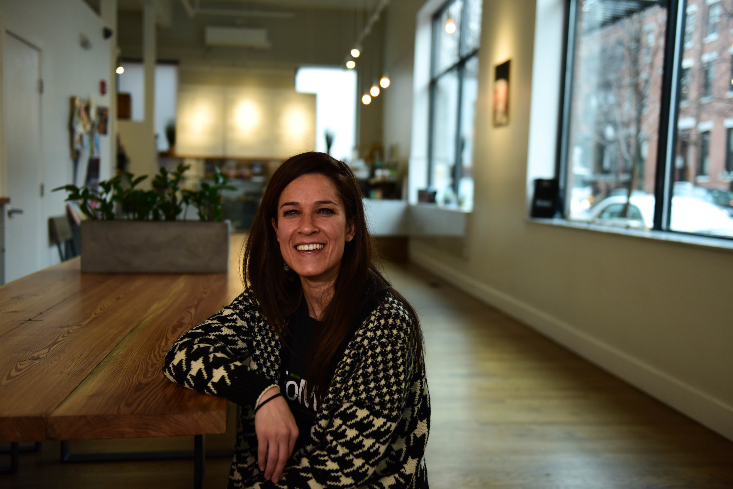 """""""There's such a strong network of businesswomen and female entrepreneurs, particularly in the South End,"""" Jalal says of her newest café's home. """"Even before we opened, there was this resounding welcome, and people asking how they can help, which is amazing."""""""
