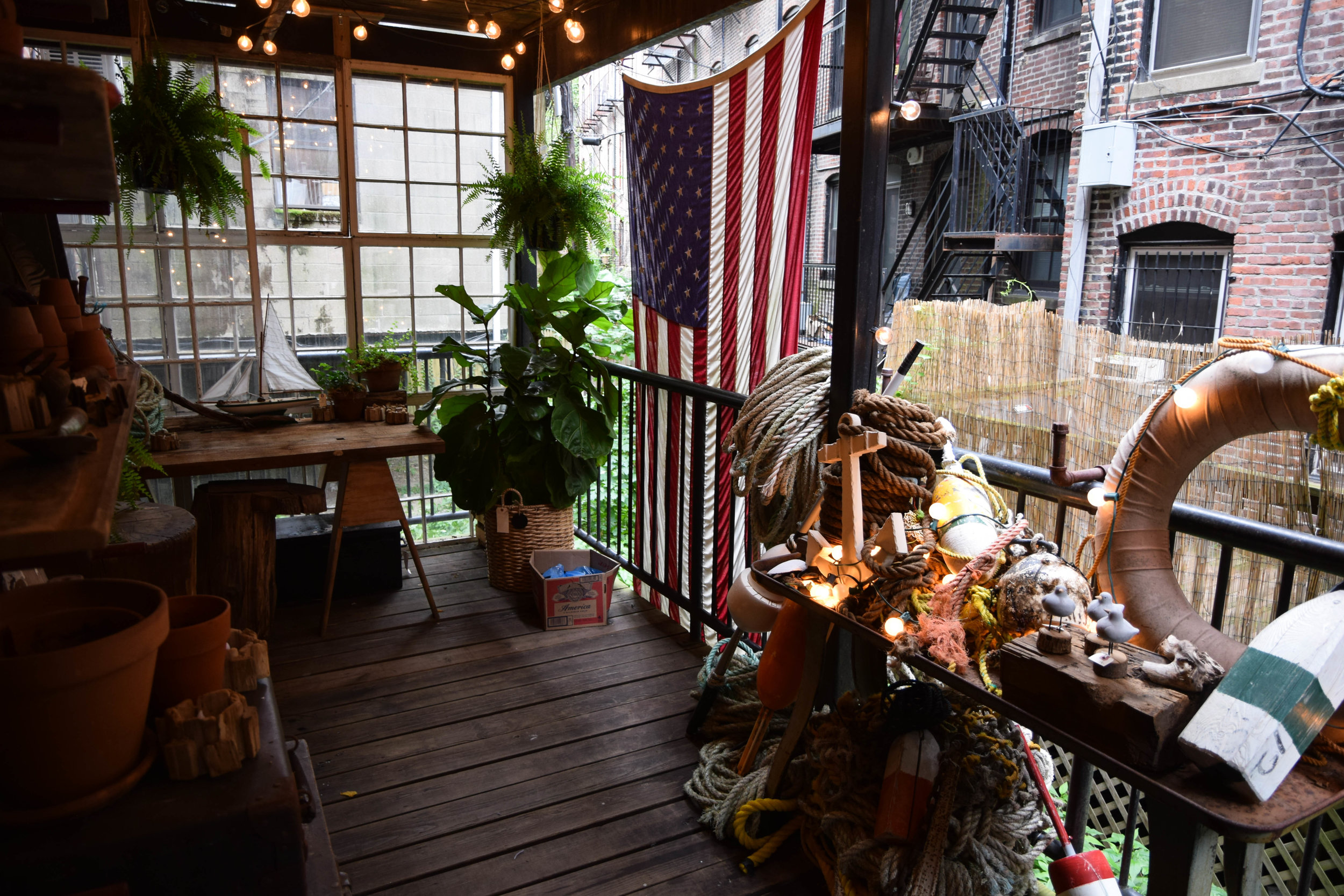 Out the back of the Boston store is a private deck which the shop occasionally hosts events on, like for the recent release of the Sperry x Steele Canvas collaboration shoe. It's also one of the coolest hideaways in the city.