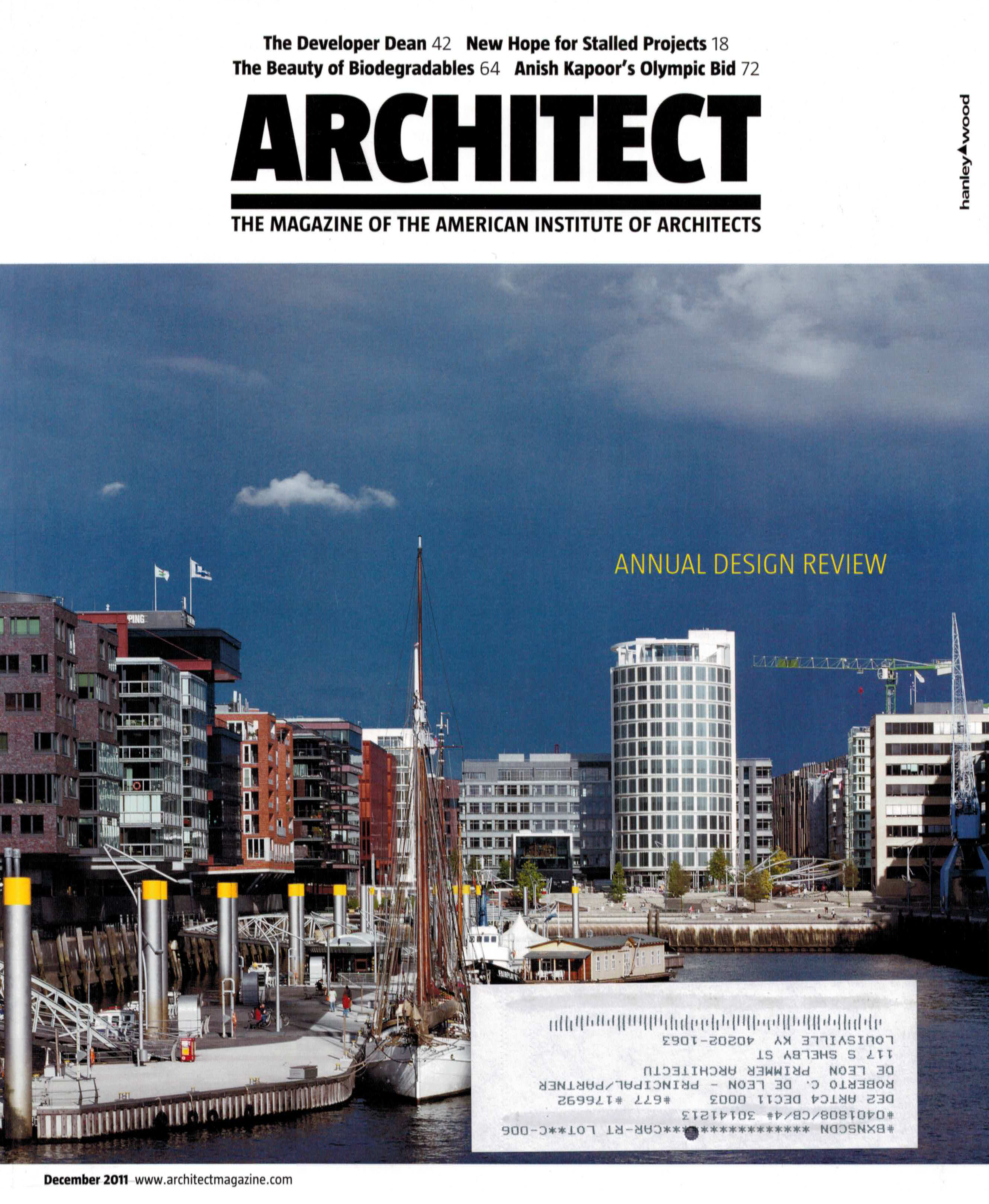 ARCHITECT MAGAZINE  12/11