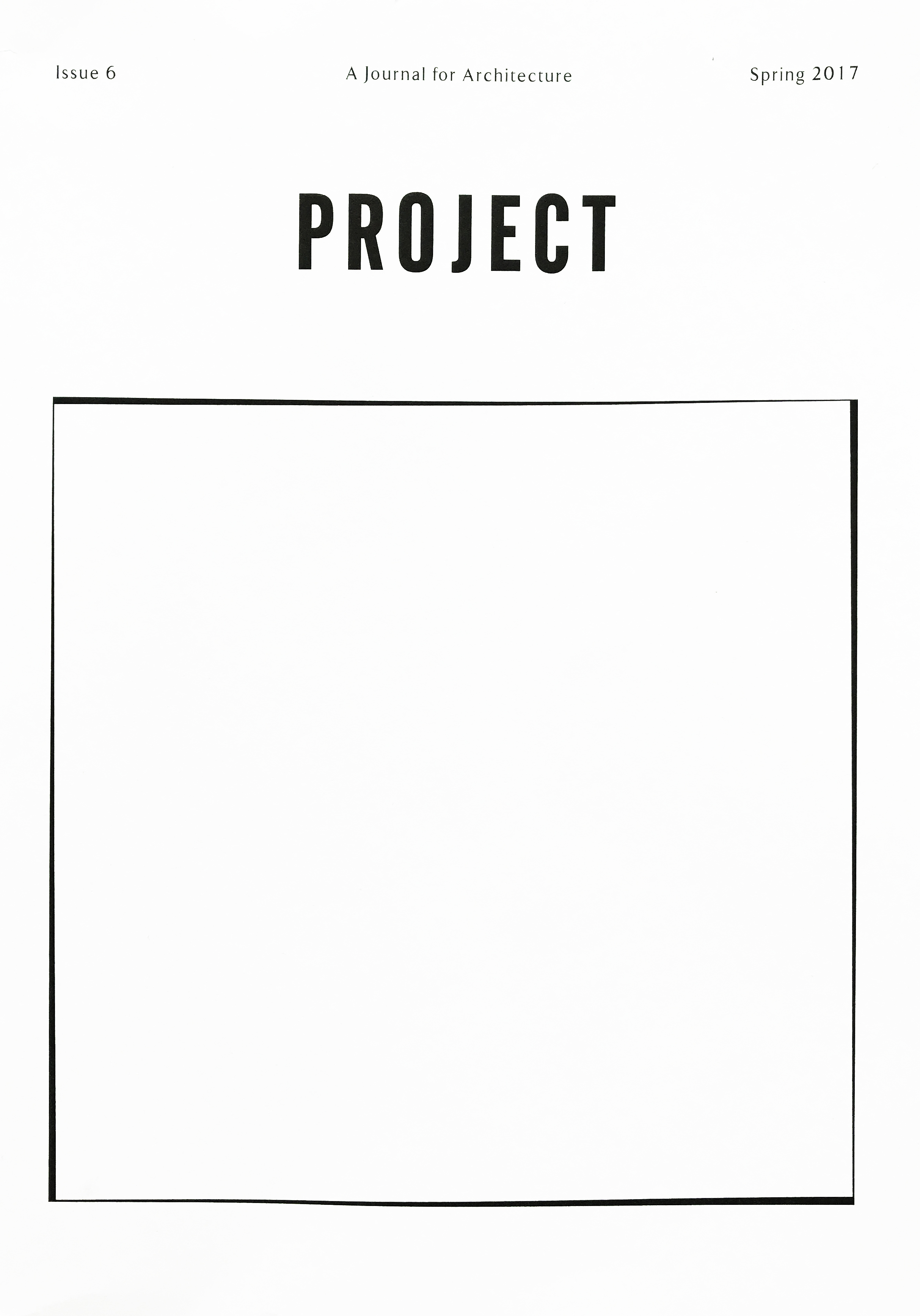 PROJECT JOURNAL ISSUE 6