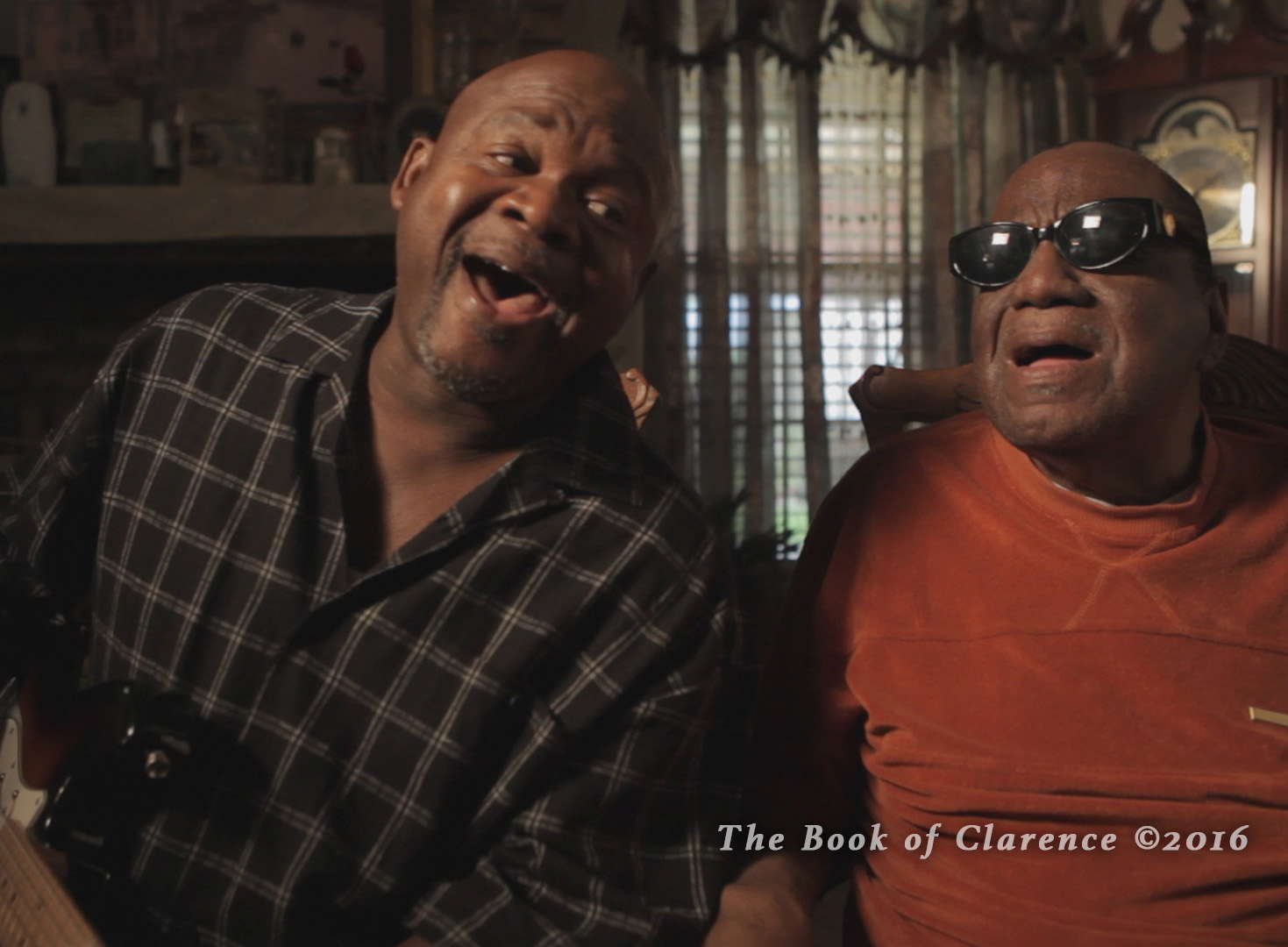 Clarence and Sam singing, The Book of Clarence