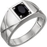 Men's solitaire stone ring