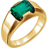 Mens Solitaire Yellow Gold Ring