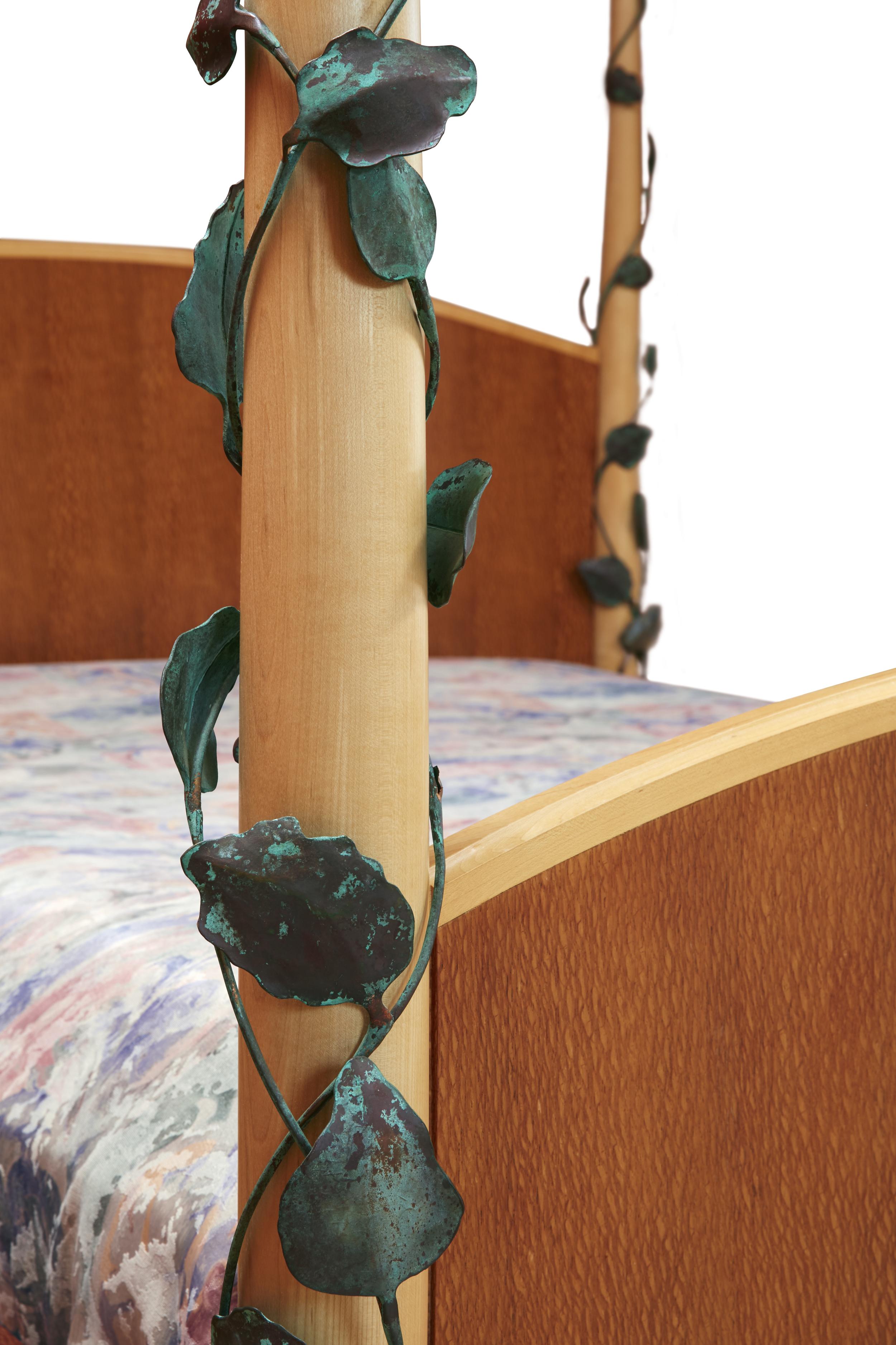 Art Deco Bed vine detail