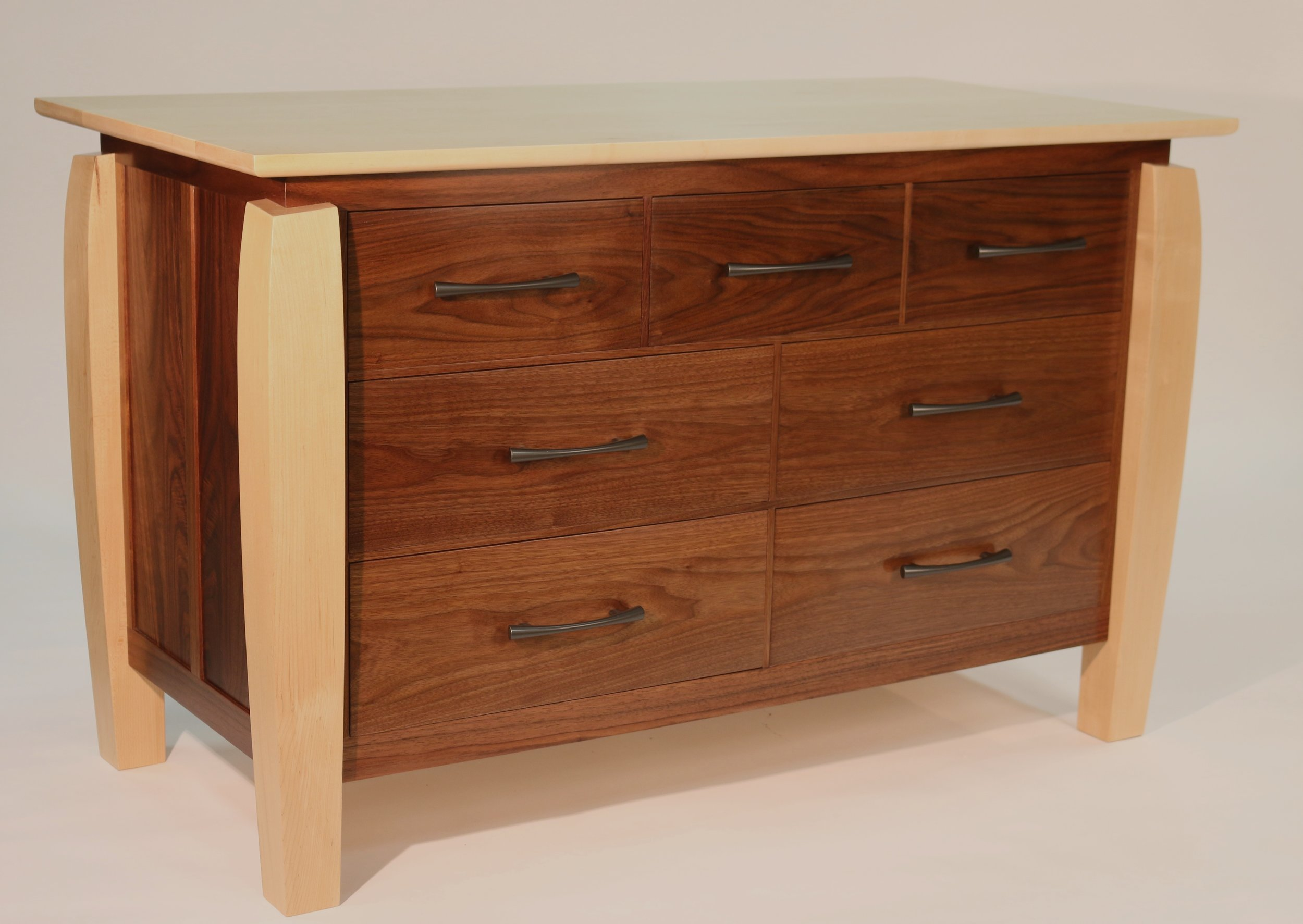 Walnut Dresser front view