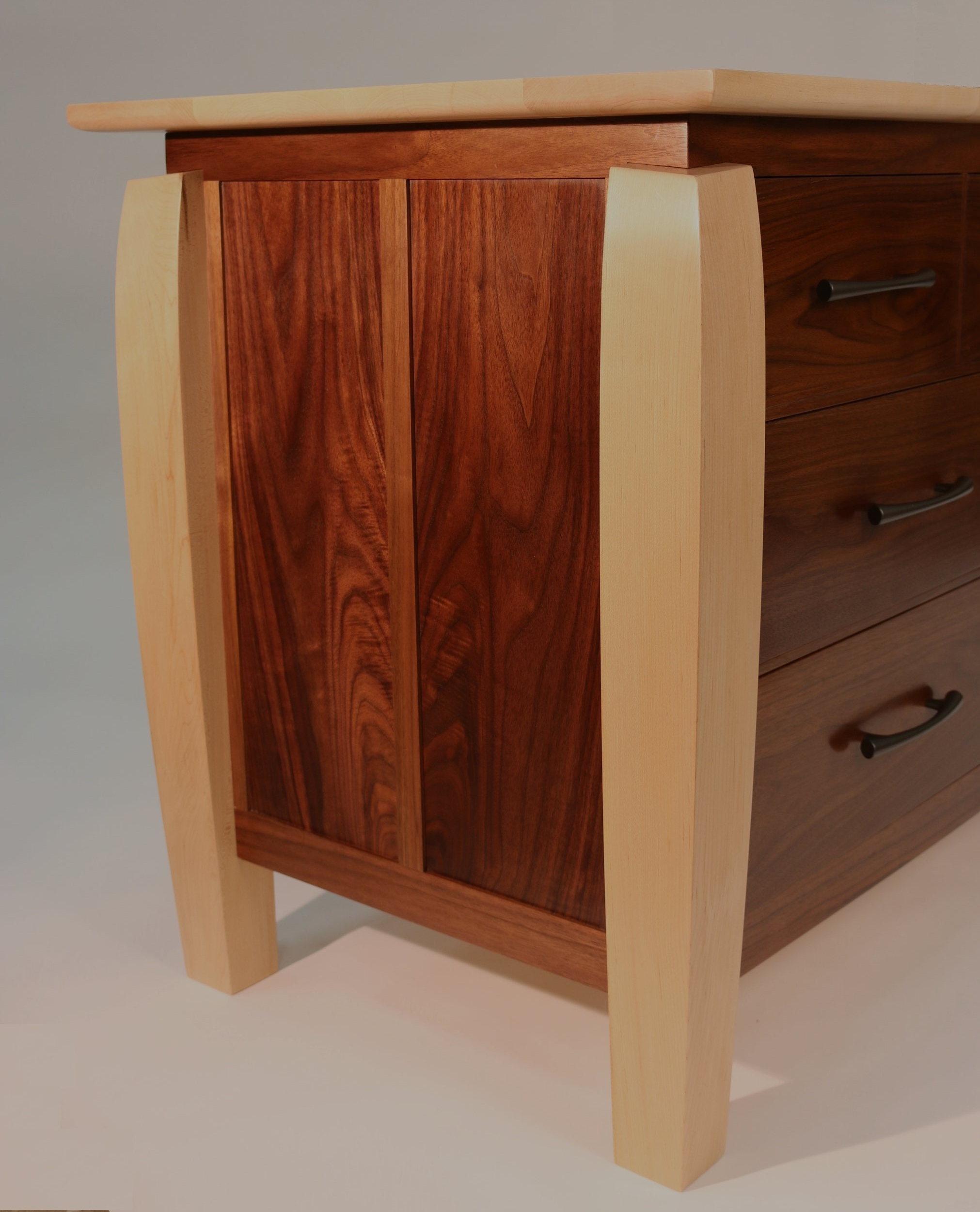 Walnut Dresser end view