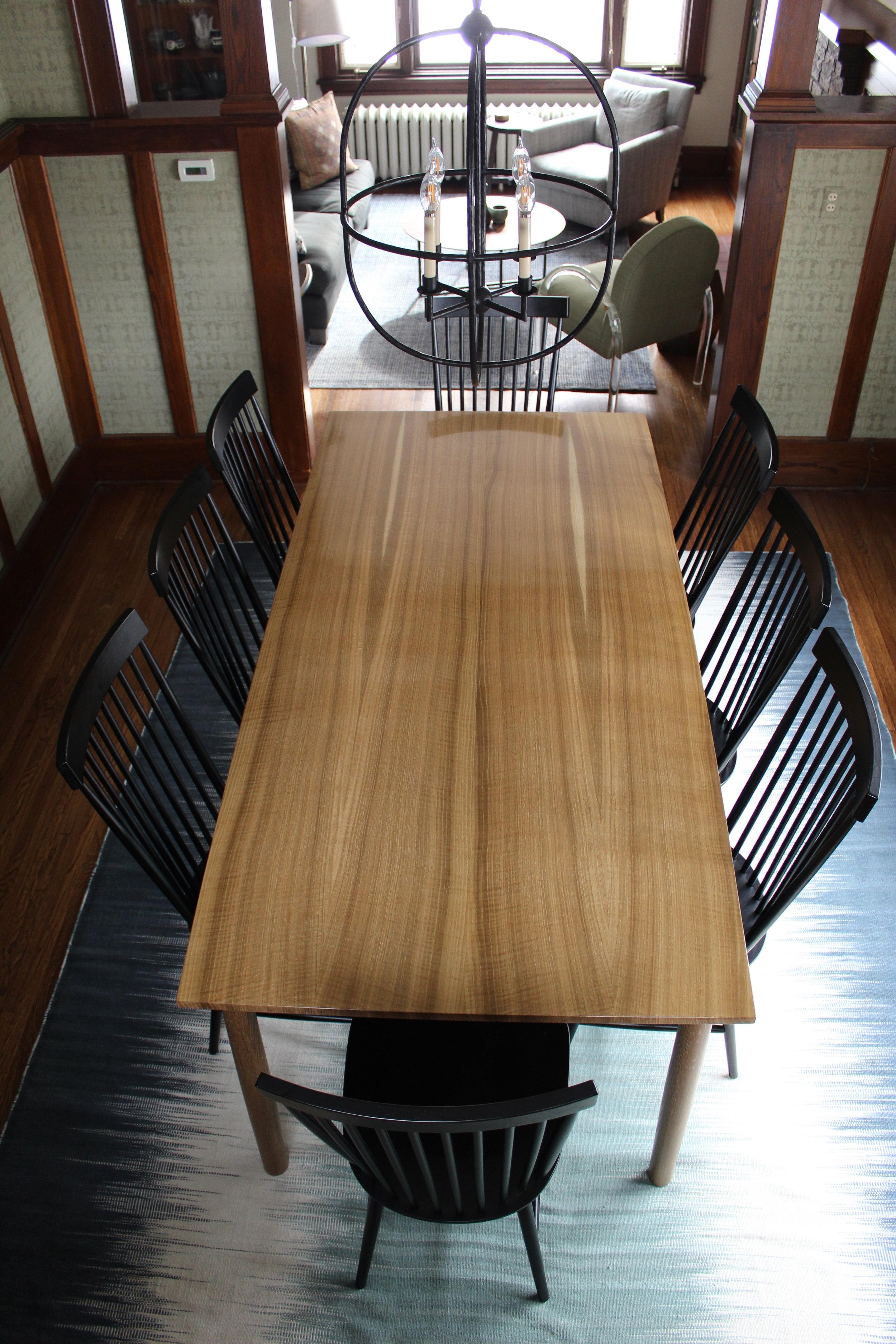 Fumed White Oak Dining Table