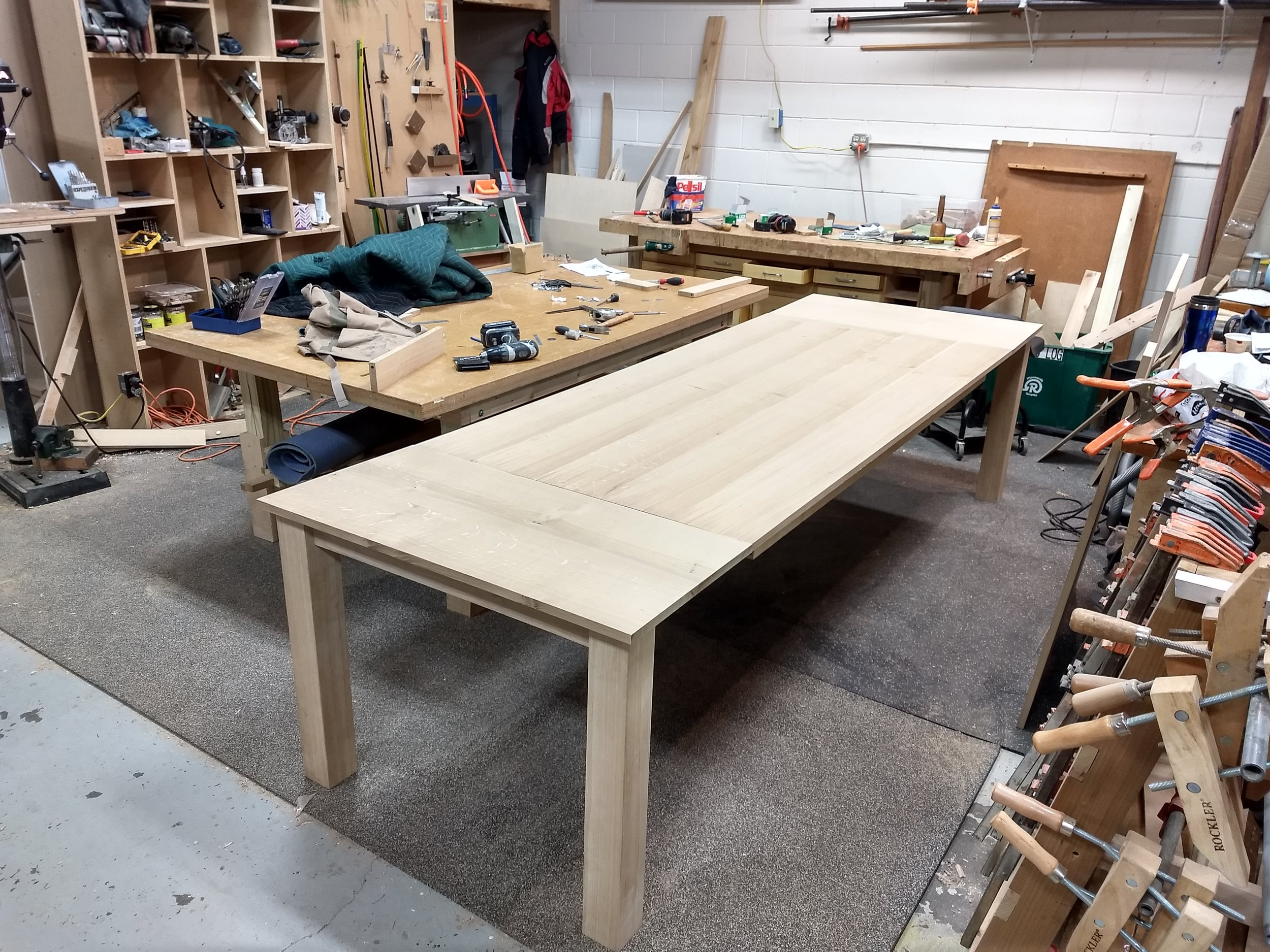 Assembled table