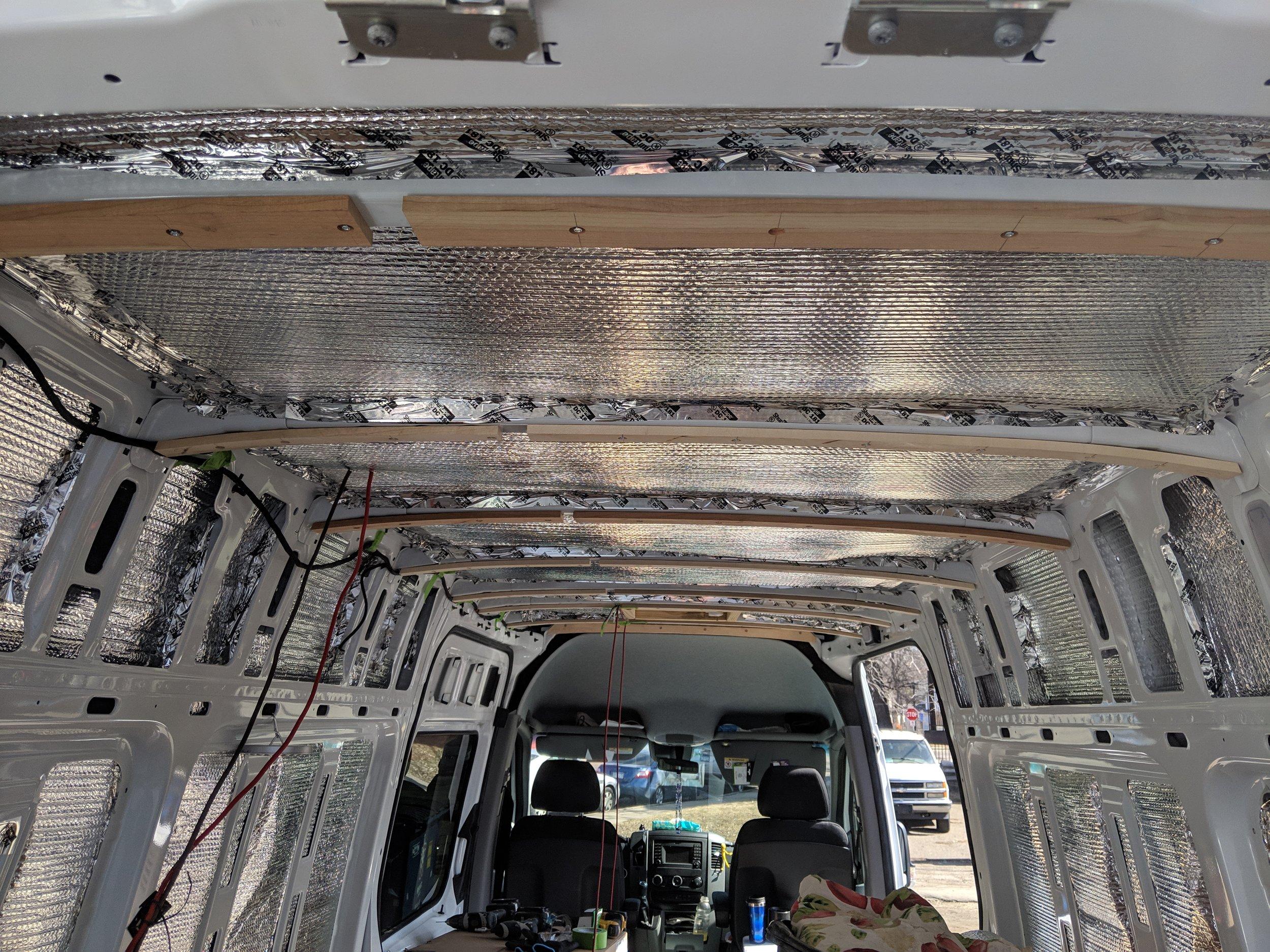 Installing ceiling furring strips