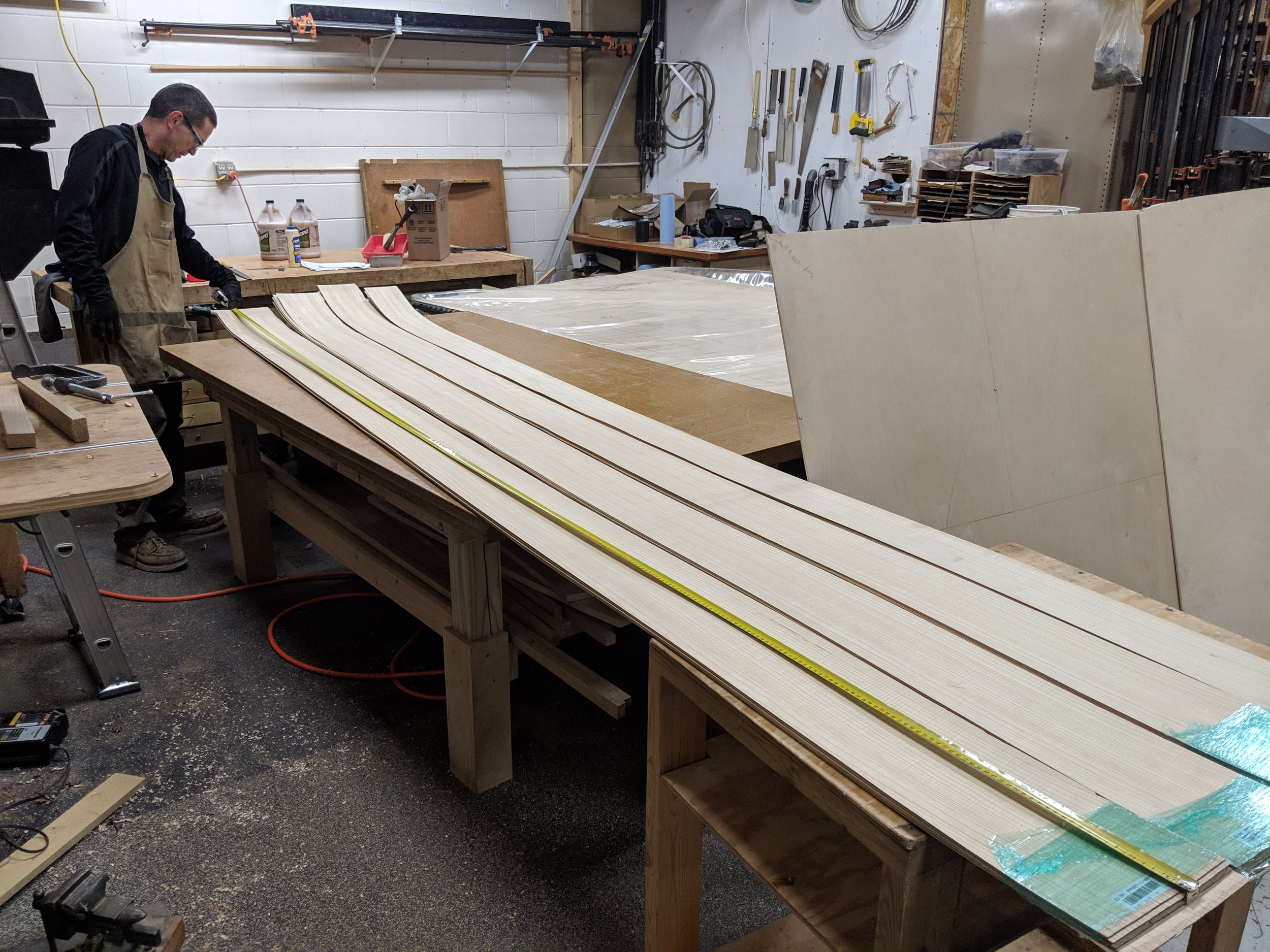 Calculating how to best use the veneer