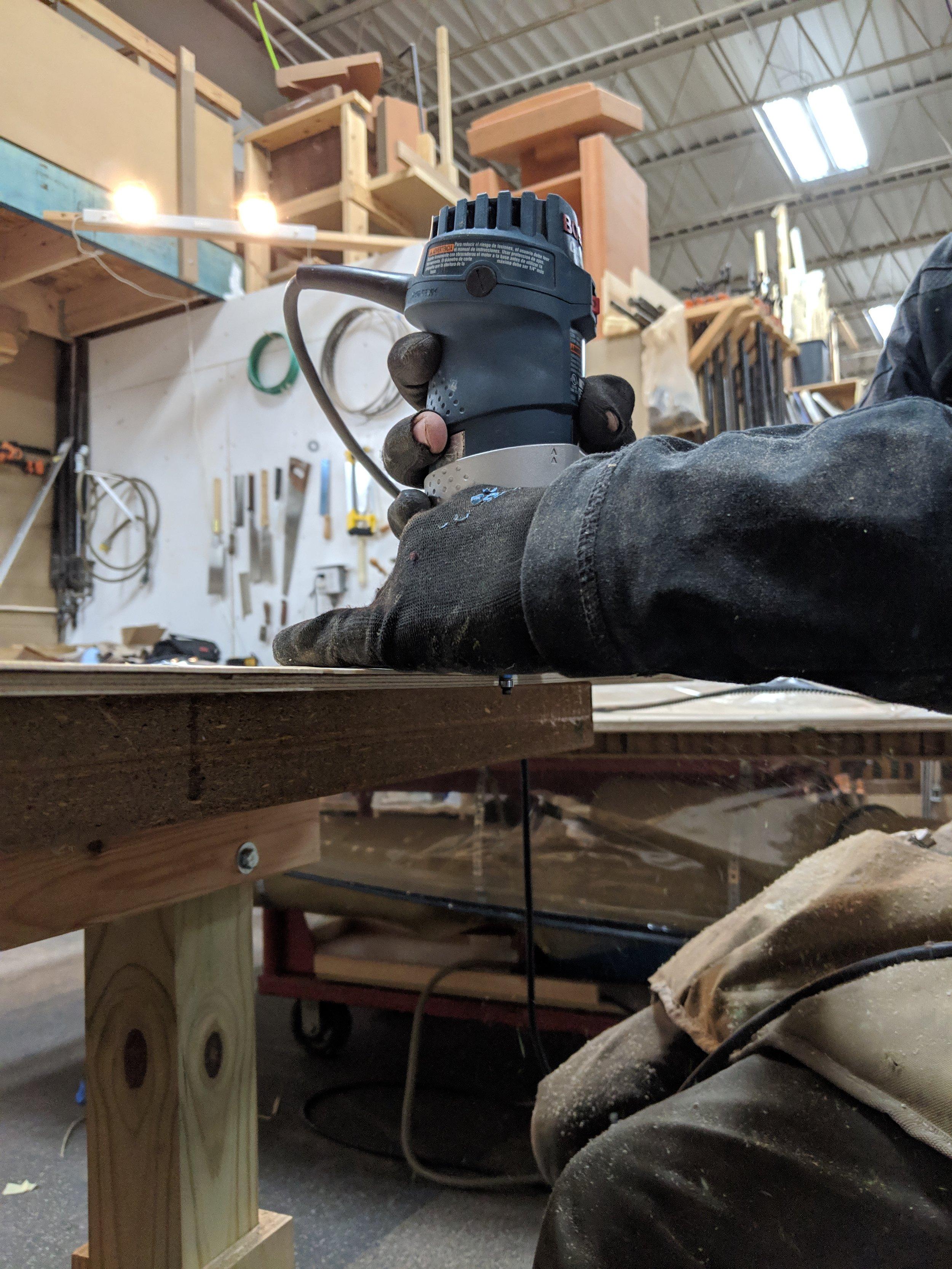 Trimming the oversized veneer