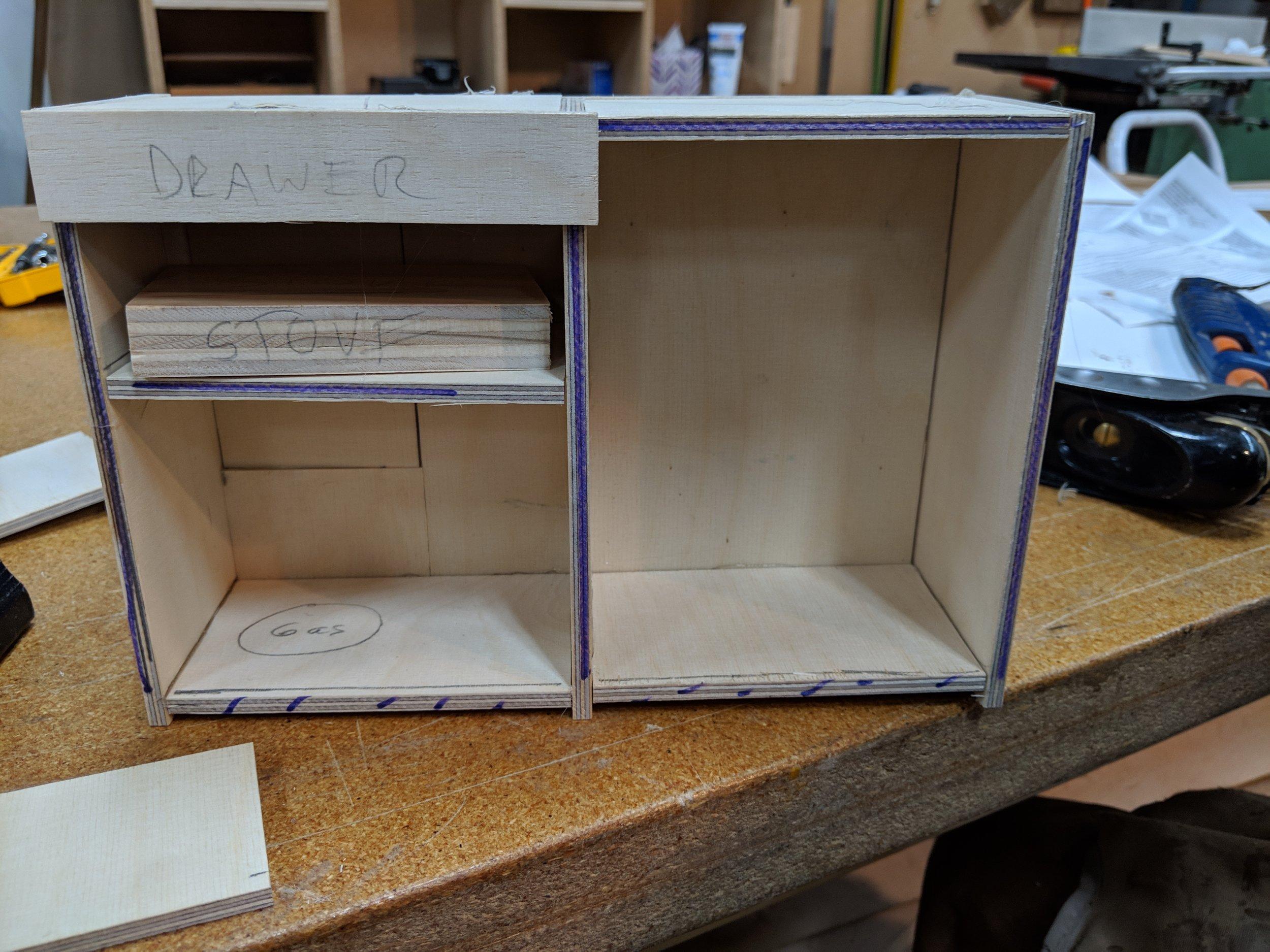 Passenger side cabinet model