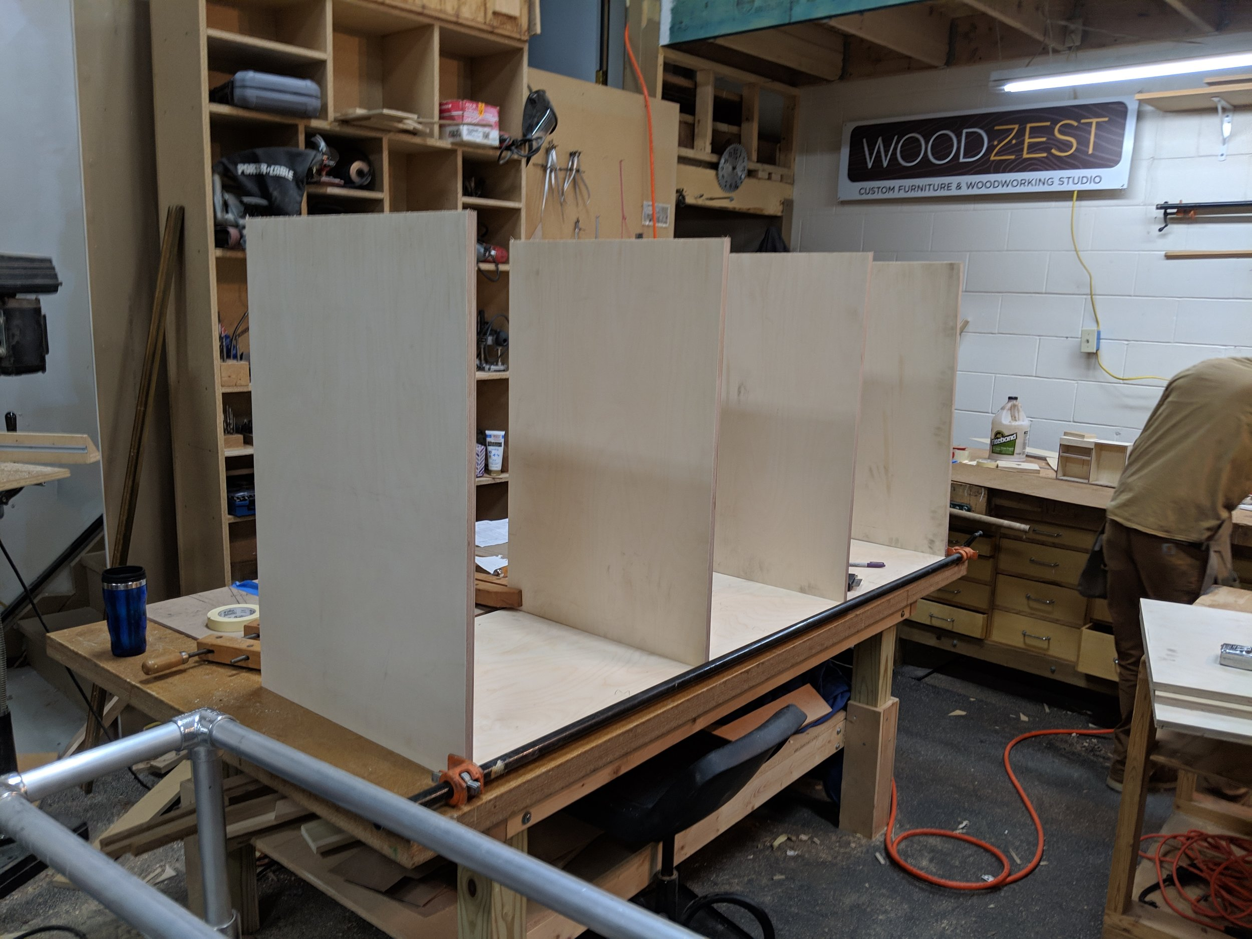 Cabinet dry assembly