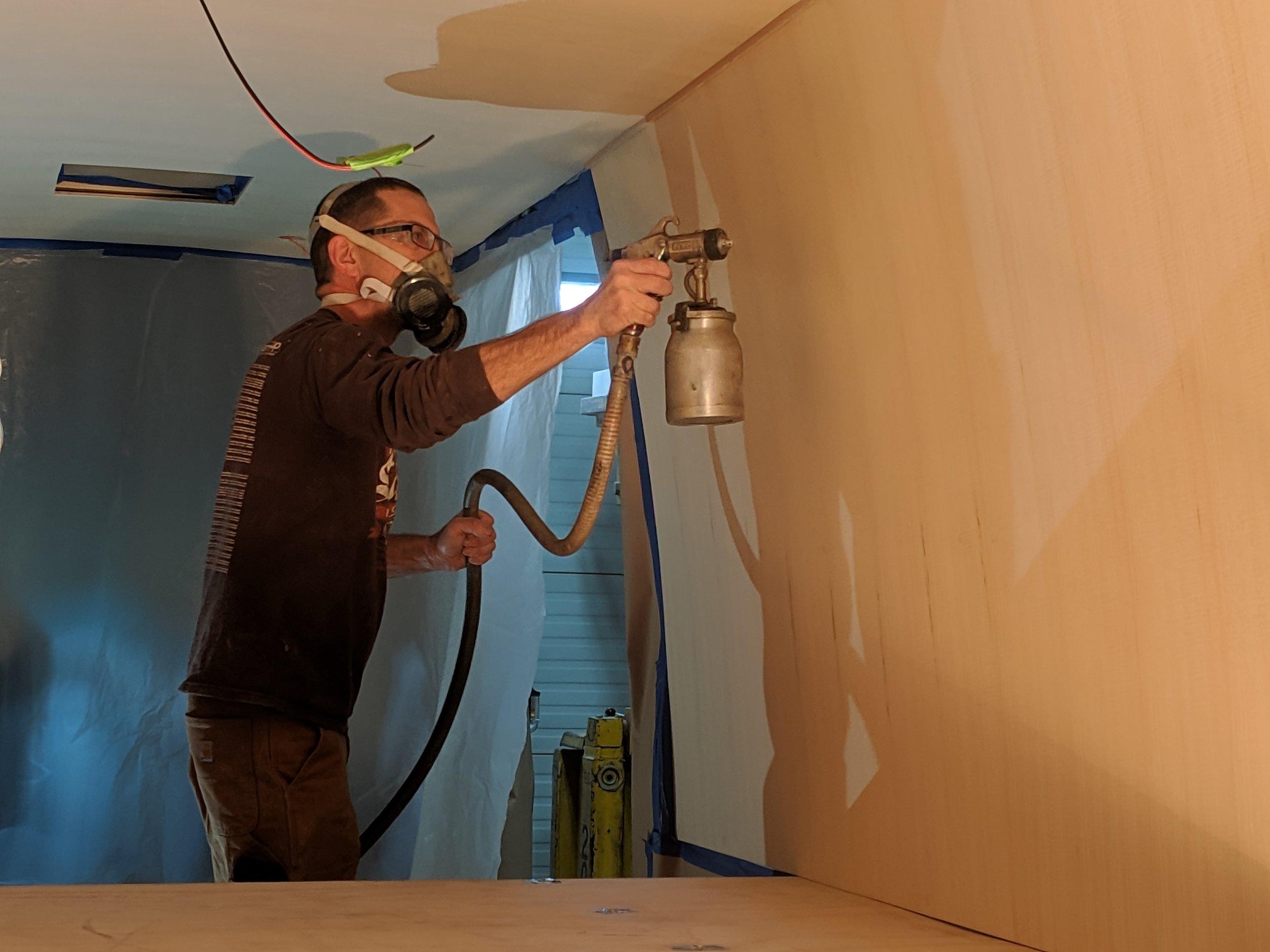 Spraying the walls
