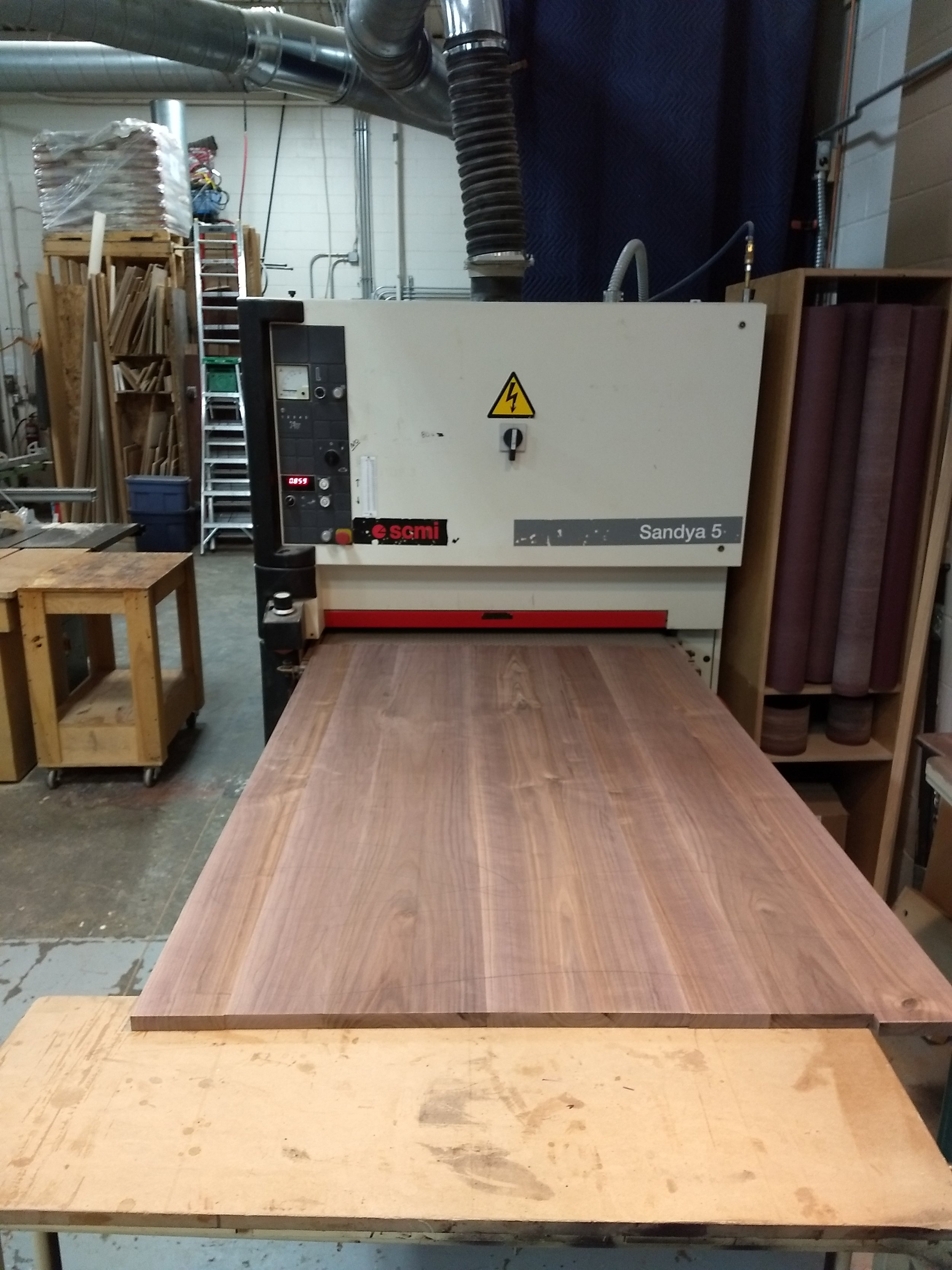 Top going into sander
