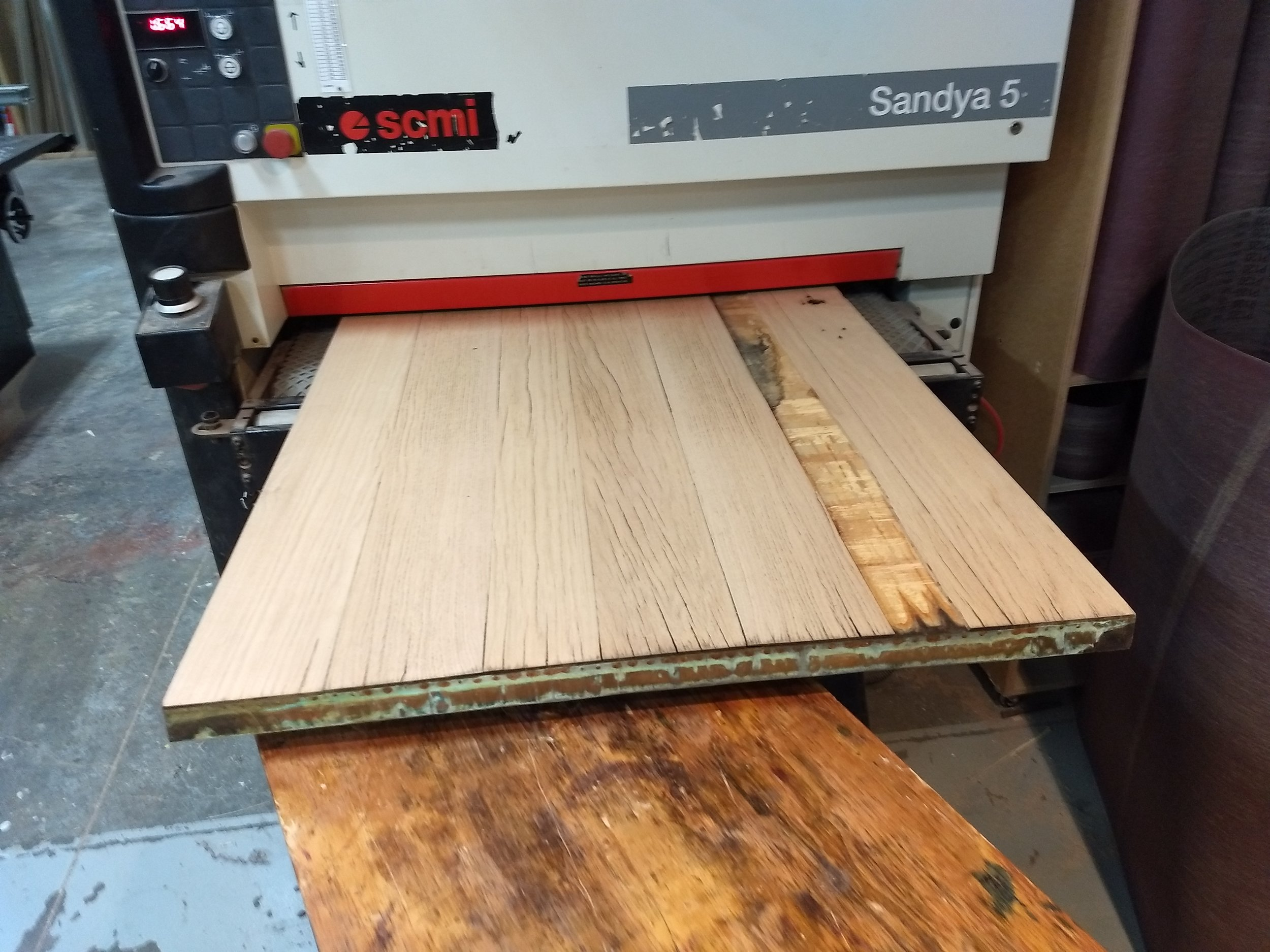 Door going into sander