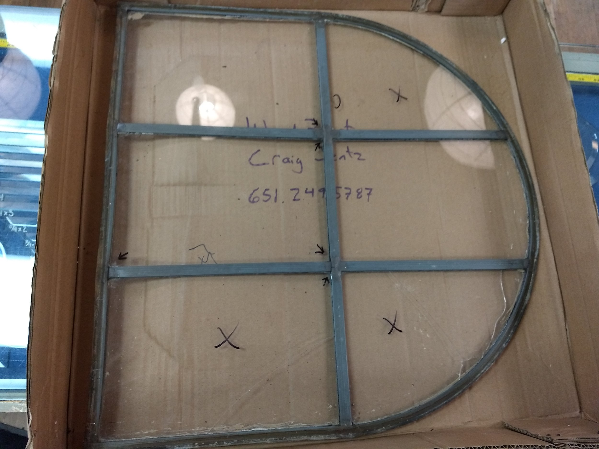 Glass prior to repair
