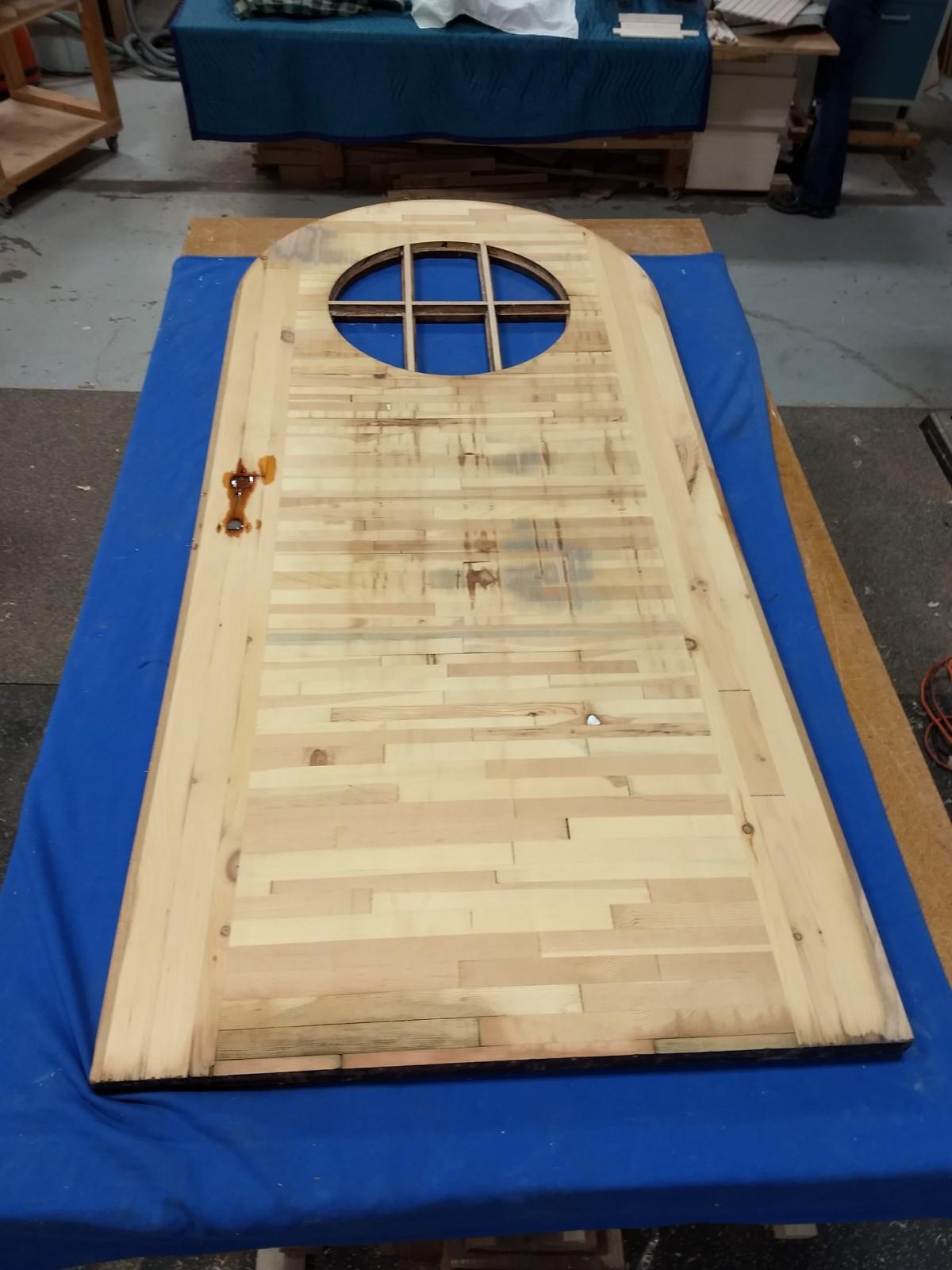 Door after sanding