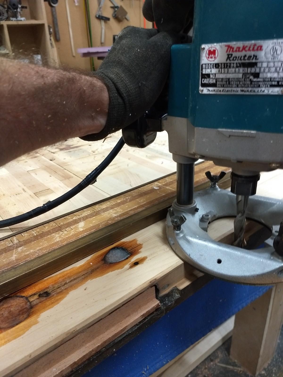 Shaving off knob edge